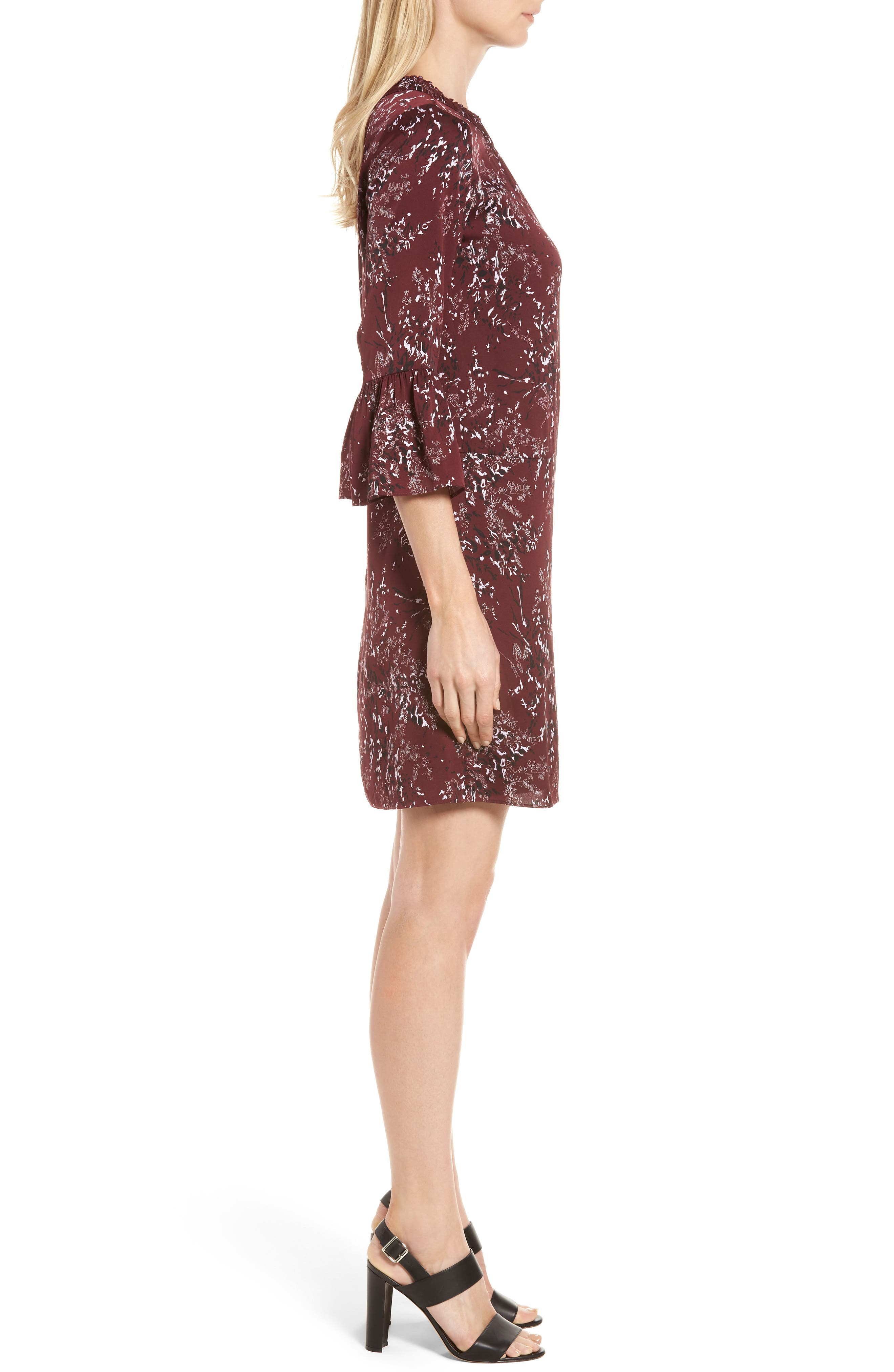 Alternate Image 3  - Nordstrom Signature Floral Print Stretch Silk Minidress