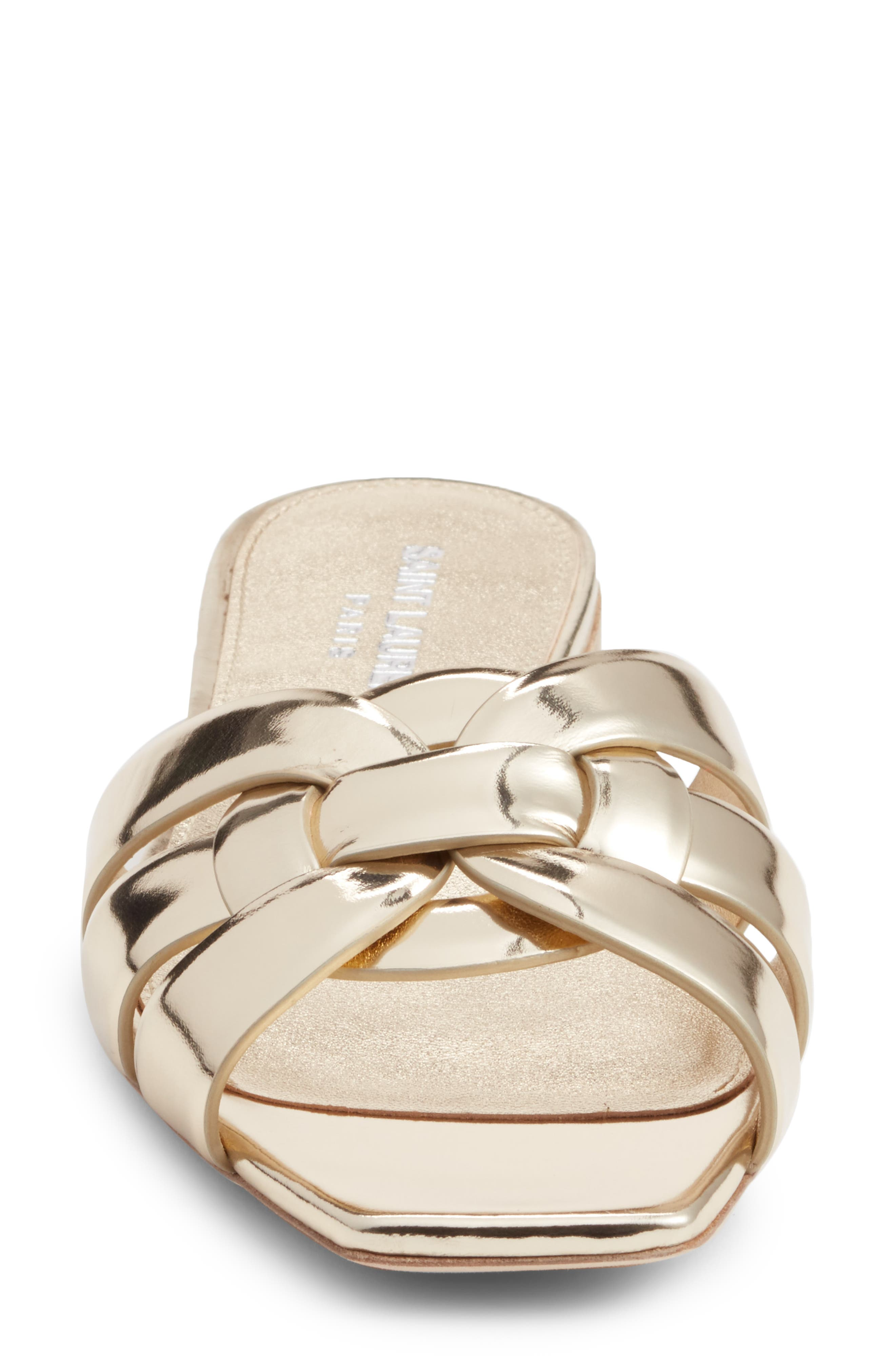 Tribute Slide Sandal,                             Alternate thumbnail 4, color,                             Metallic Gold