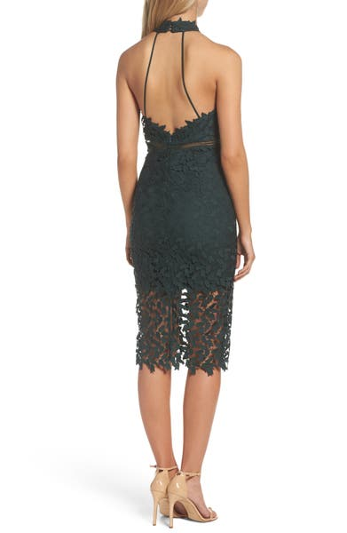 Main Image - Bardot 'Gemma' Halter Lace Sheath Dress