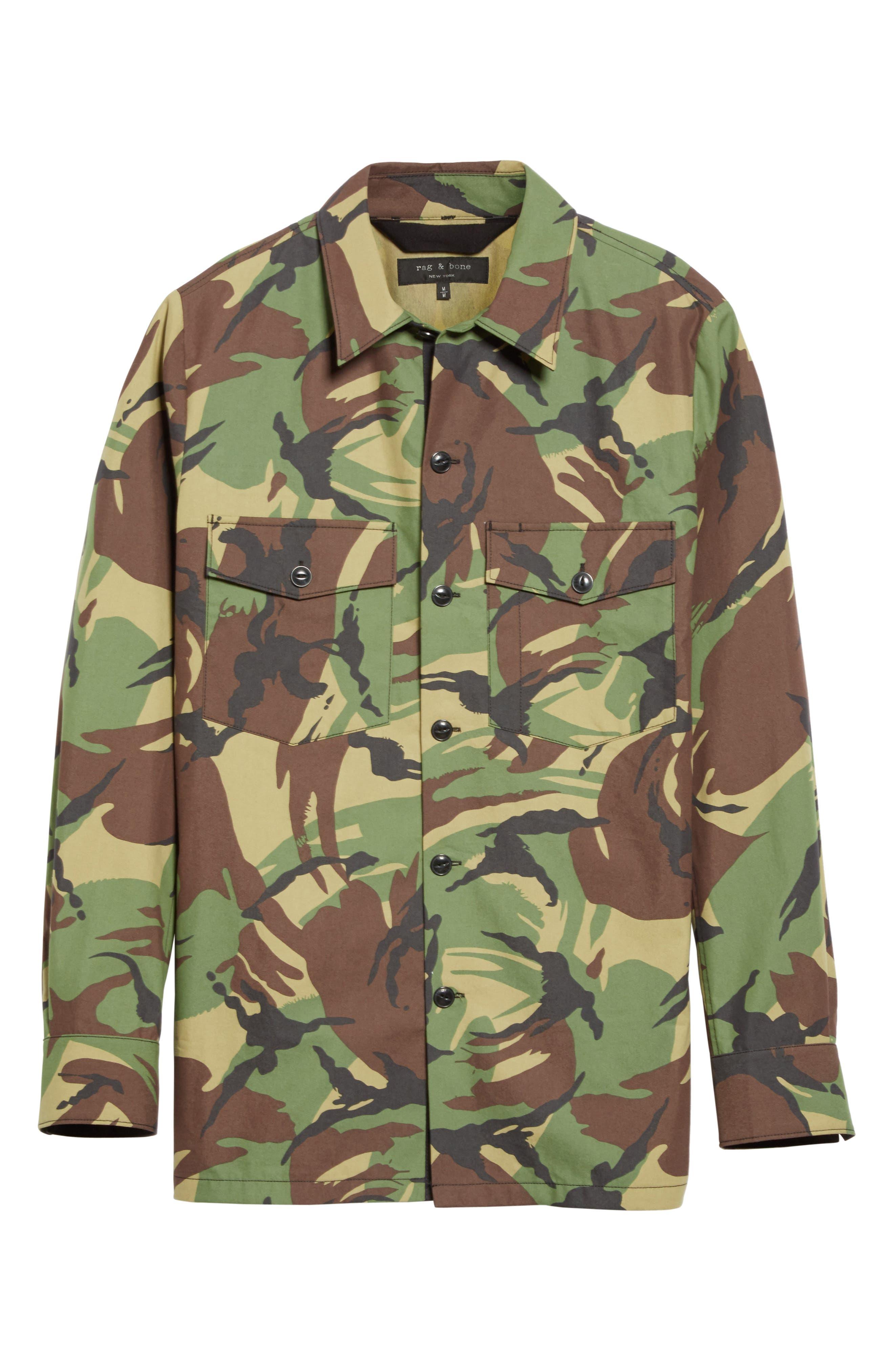 Alternate Image 6  - rag & bone Heath Camo Shirt Jacket