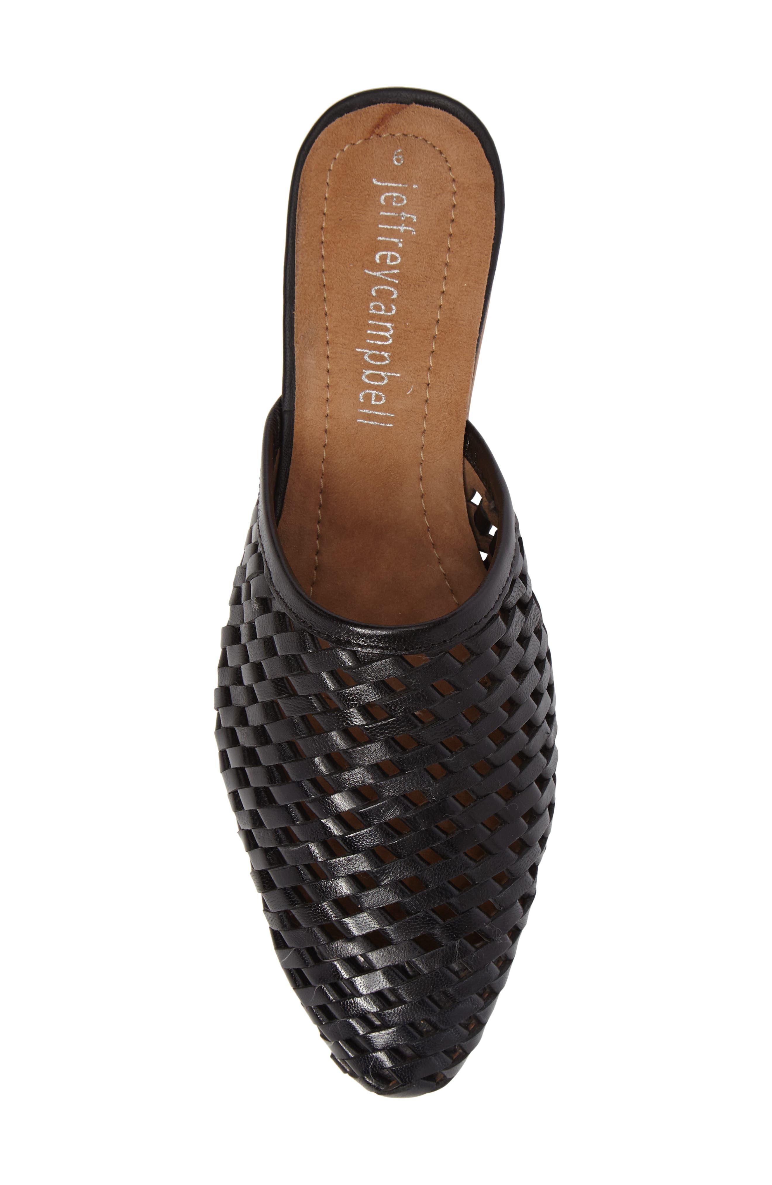 Doshi Woven Mule,                             Alternate thumbnail 5, color,                             Black Leather
