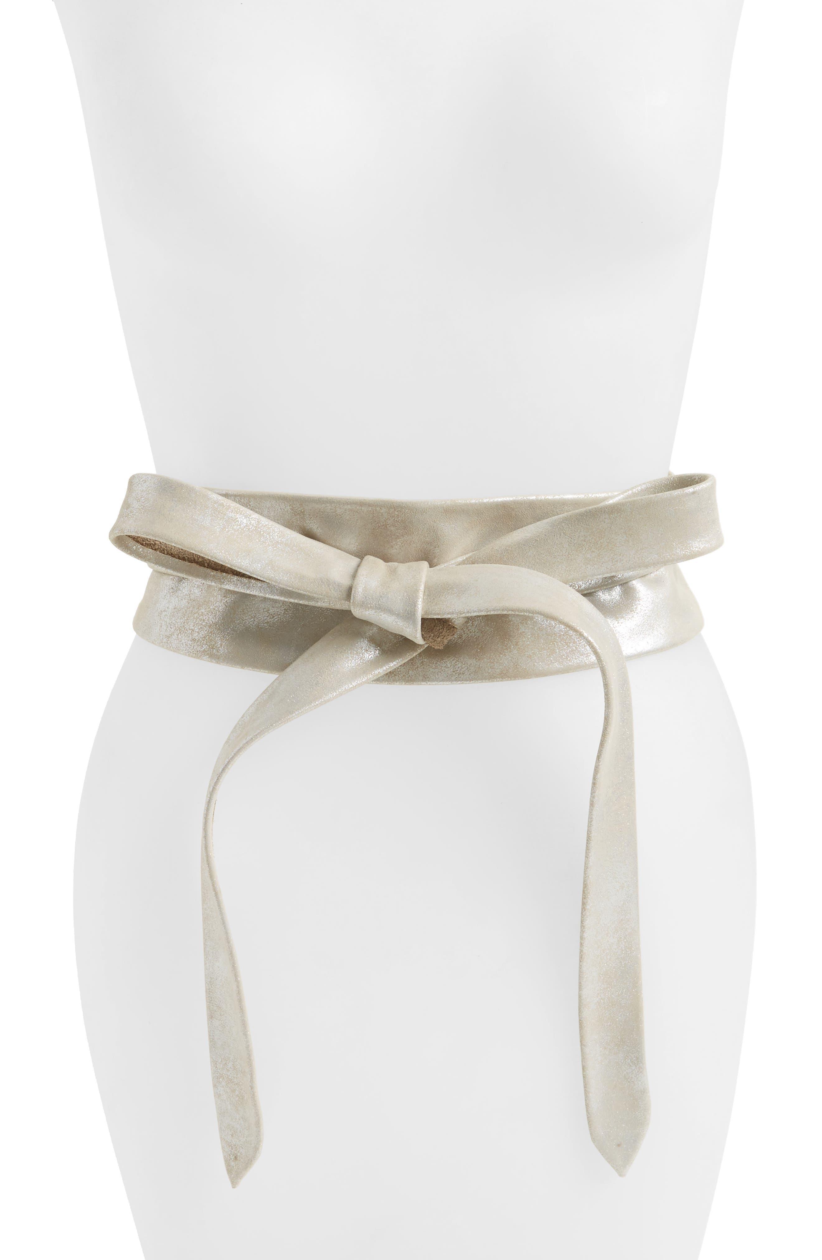 Alternate Image 1 Selected - Ada Handmade Leather Wrap Belt