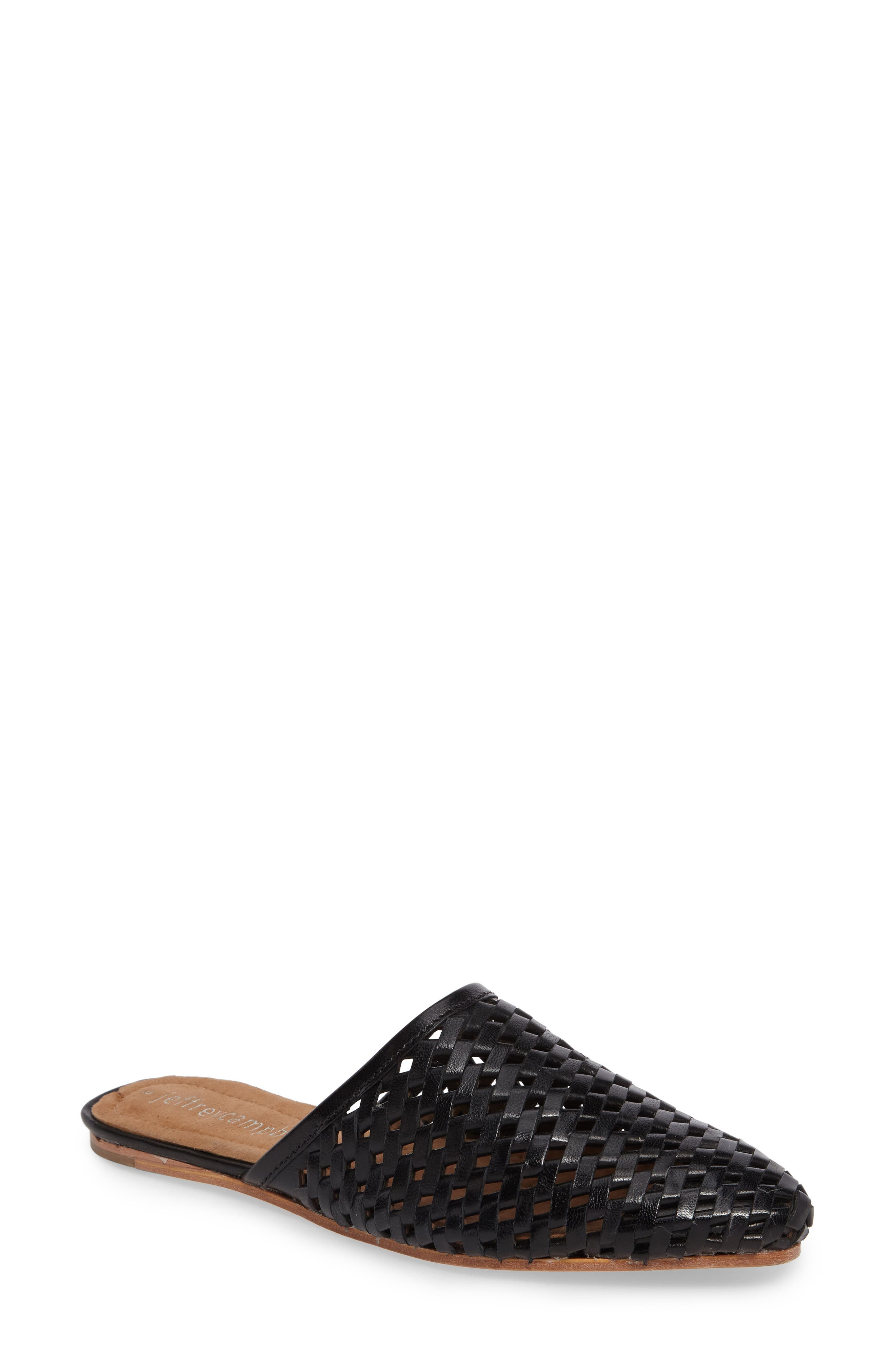 Doshi Woven Mule,                         Main,                         color, Black Leather
