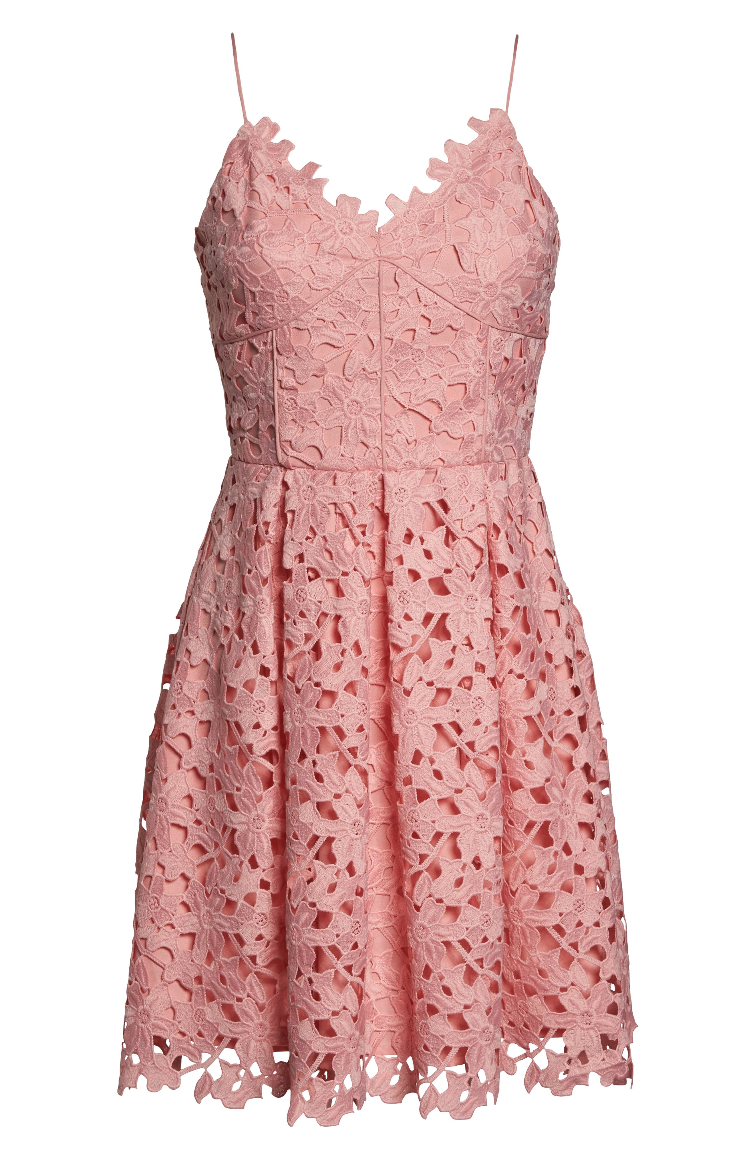 Alternate Image 6  - Adelyn Rae Lace Fit & Flare Dress