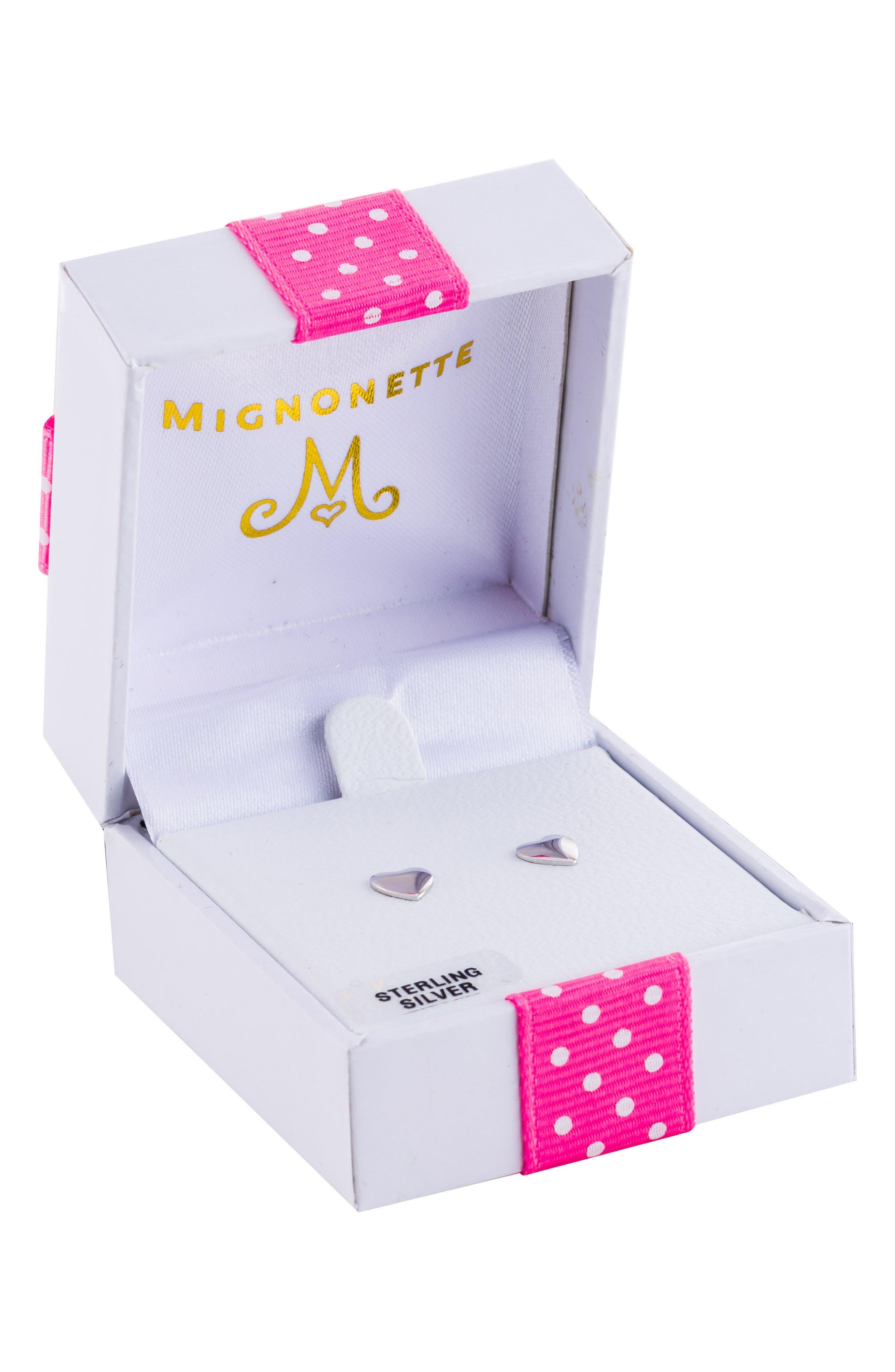 Main Image - Mignonette Sterling Silver Earrings (Girls)