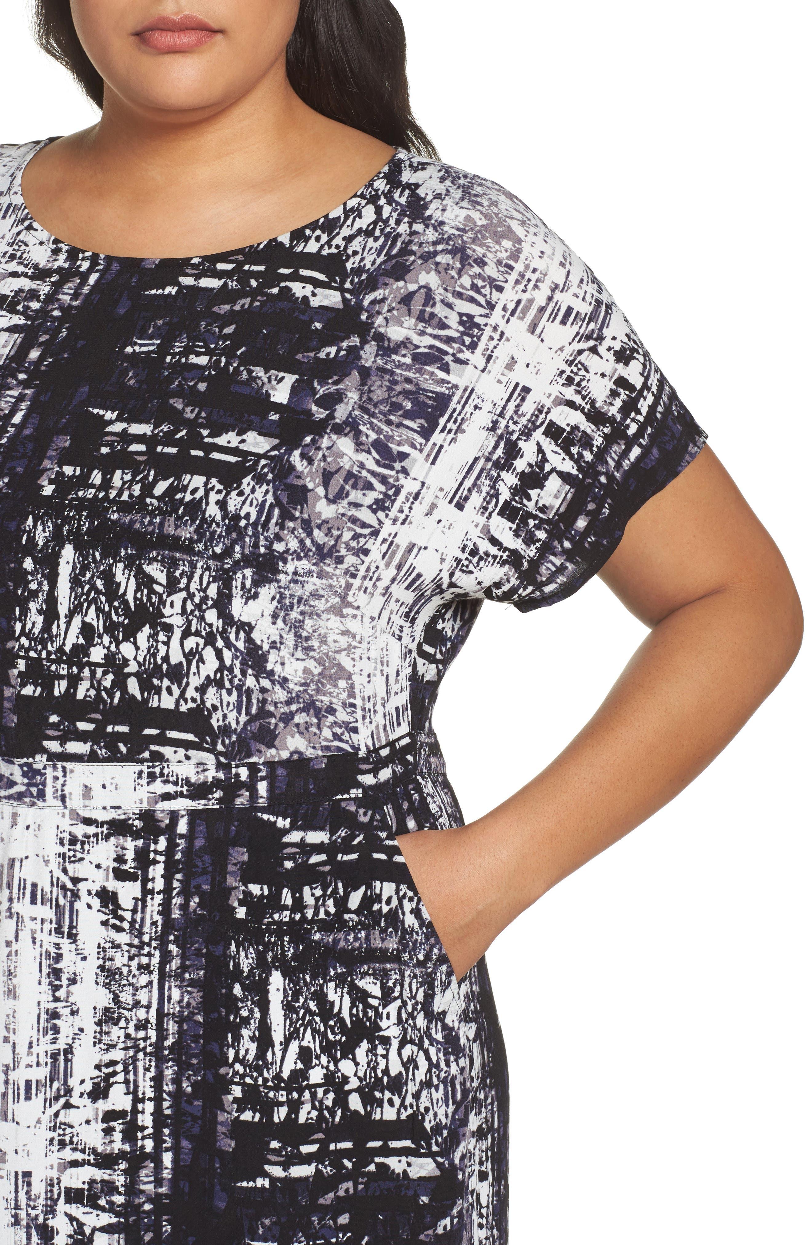 Alternate Image 4  - Sejour Dolman Sleeve Shift Dress (Plus Size)