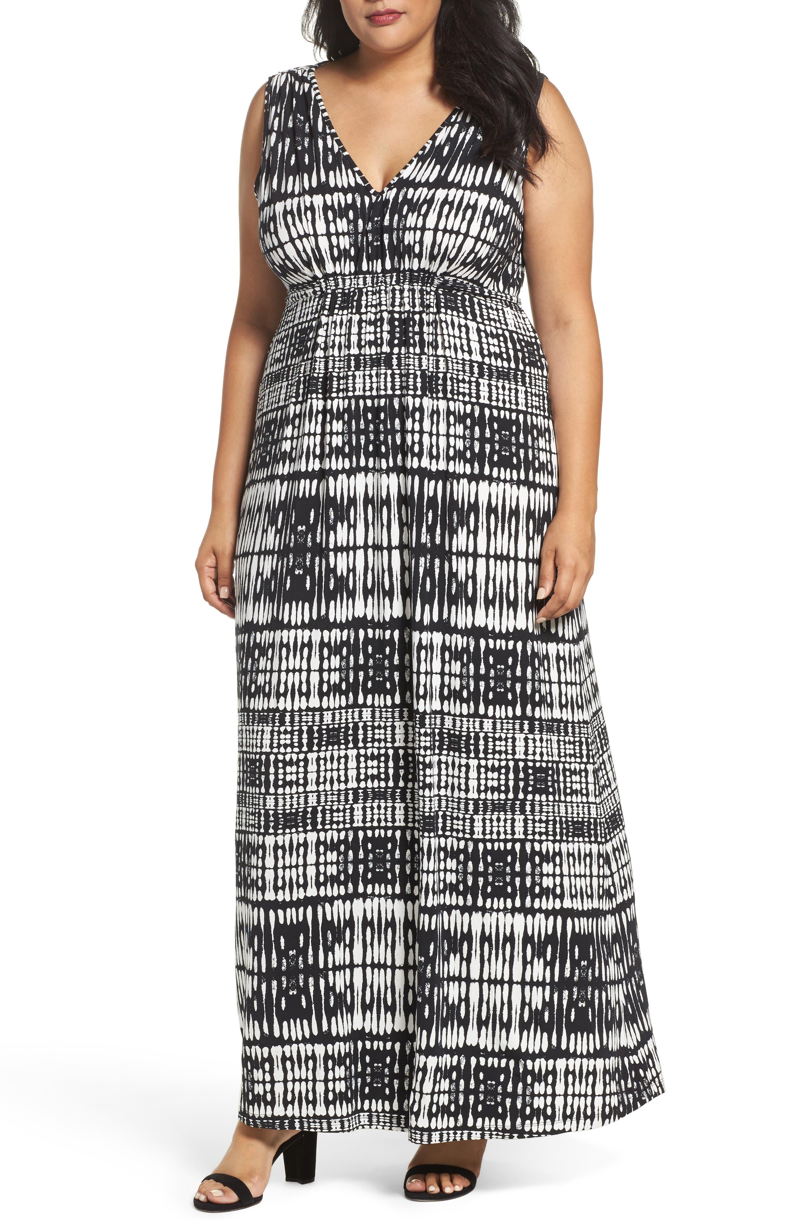 Grecia Sleeveless Jersey Maxi Dress,                         Main,                         color, Sunbleached Ikat