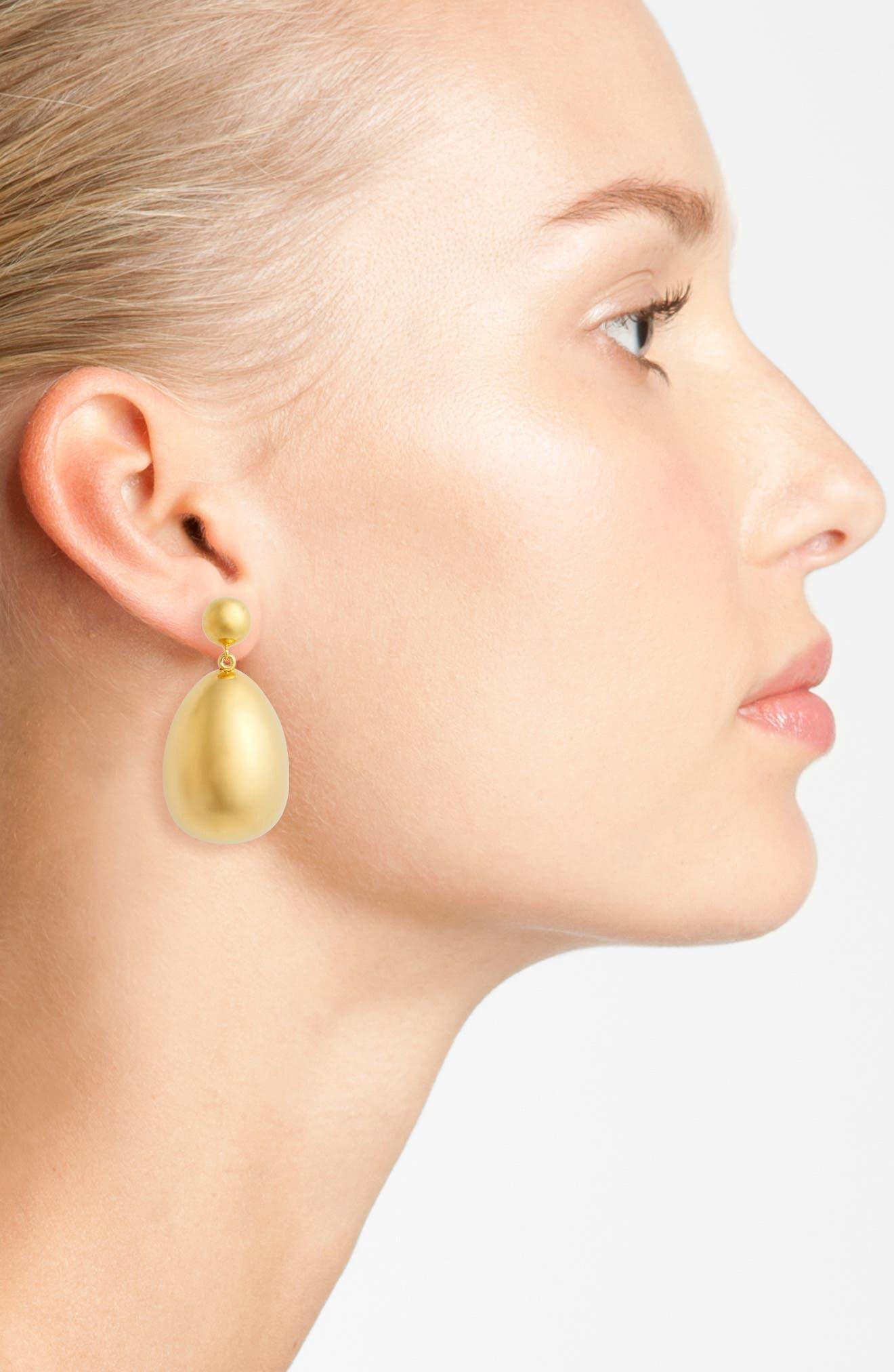 Vermeil Egg Drop Earrings,                             Alternate thumbnail 2, color,                             Vermeill