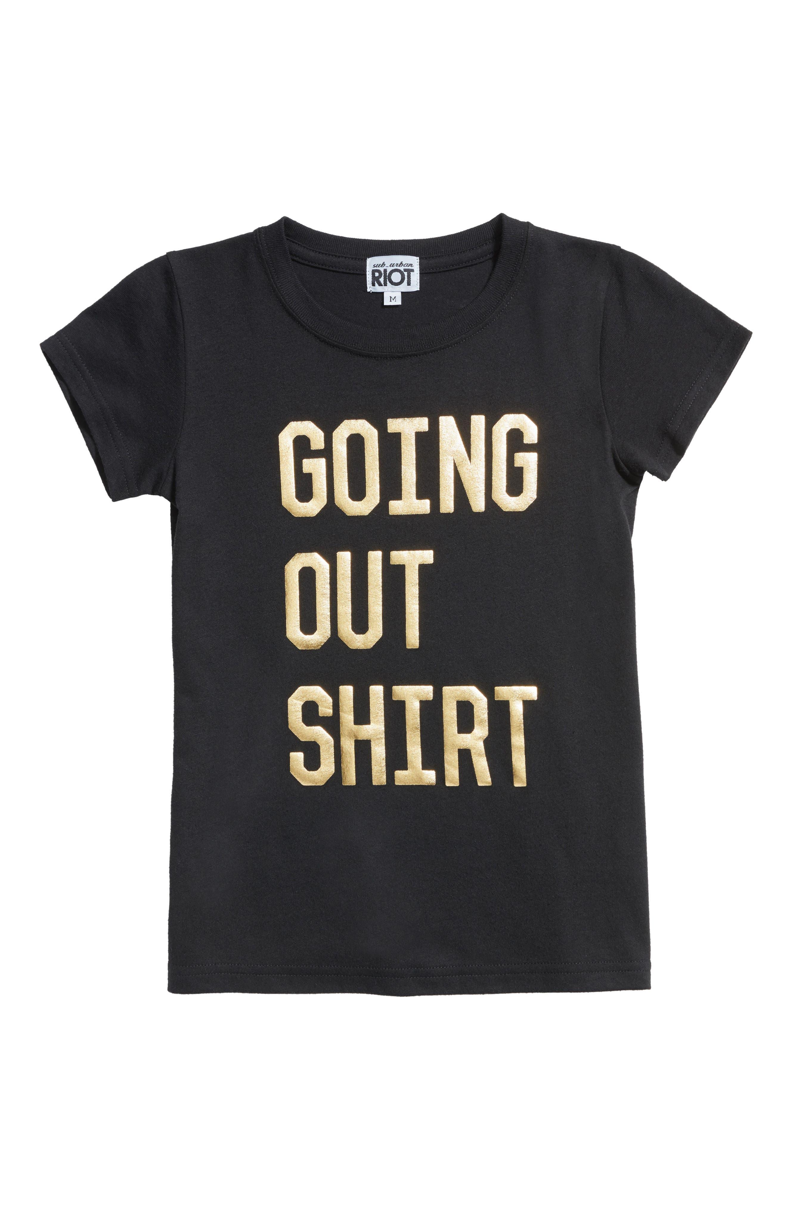 Sub_Urban Riot Going Out Shirt Tee (Big Girls)