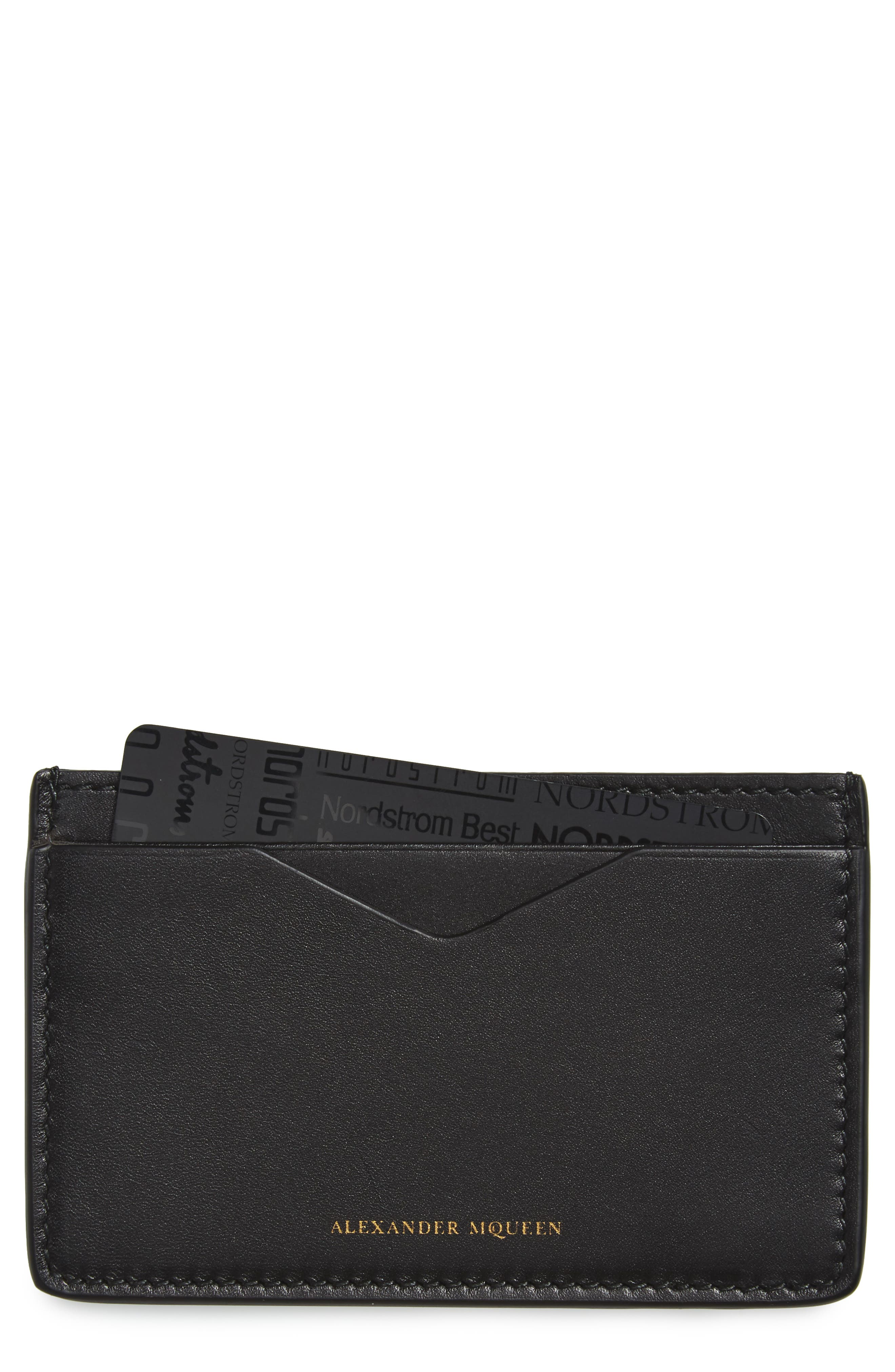 Alternate Image 1 Selected - Alexander McQueen Leather Card Case