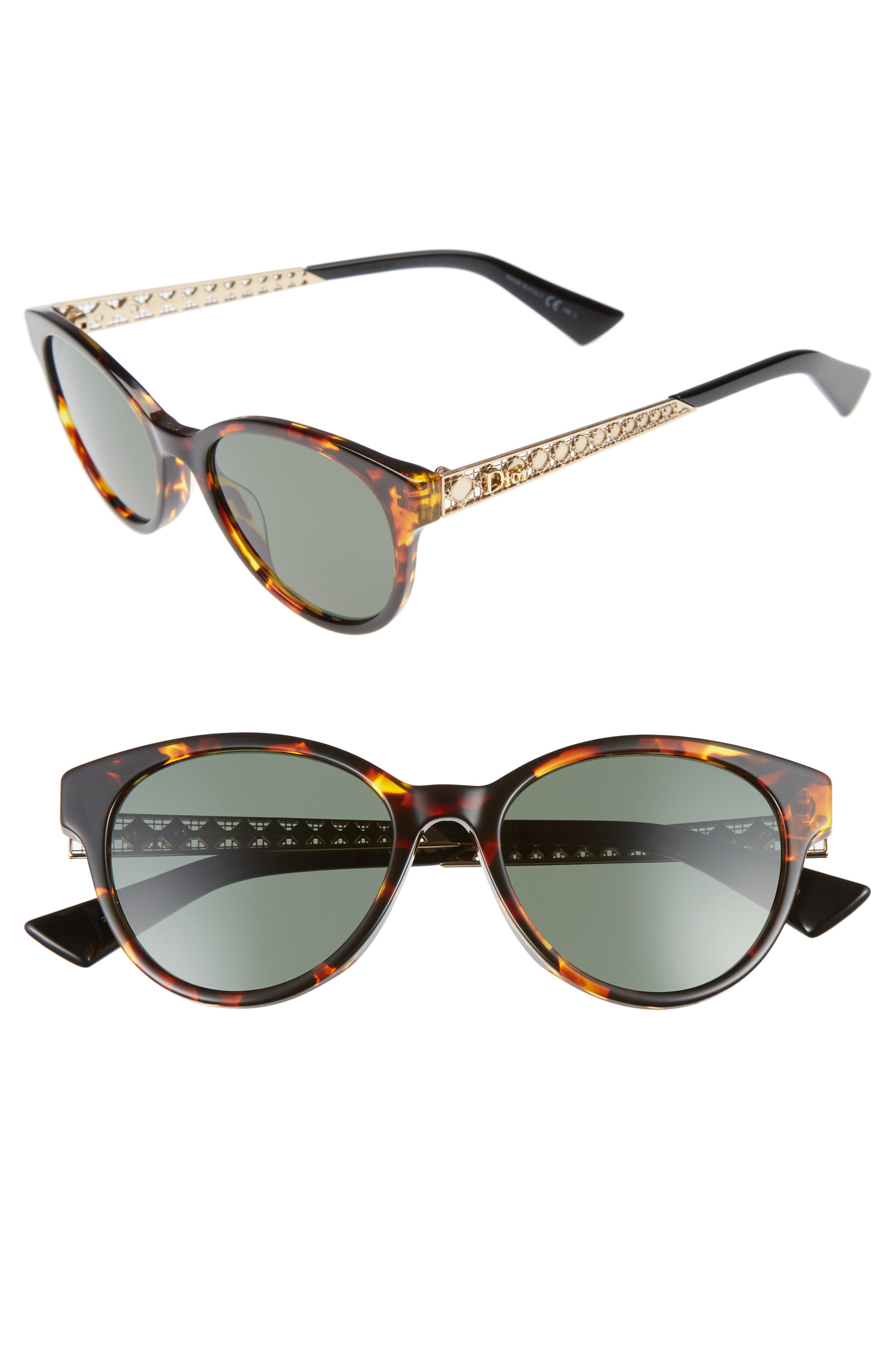 Alternate Image 1 Selected - Dior Diorama Mini 52mm Mirrored Lens Special Fit Sunglasses