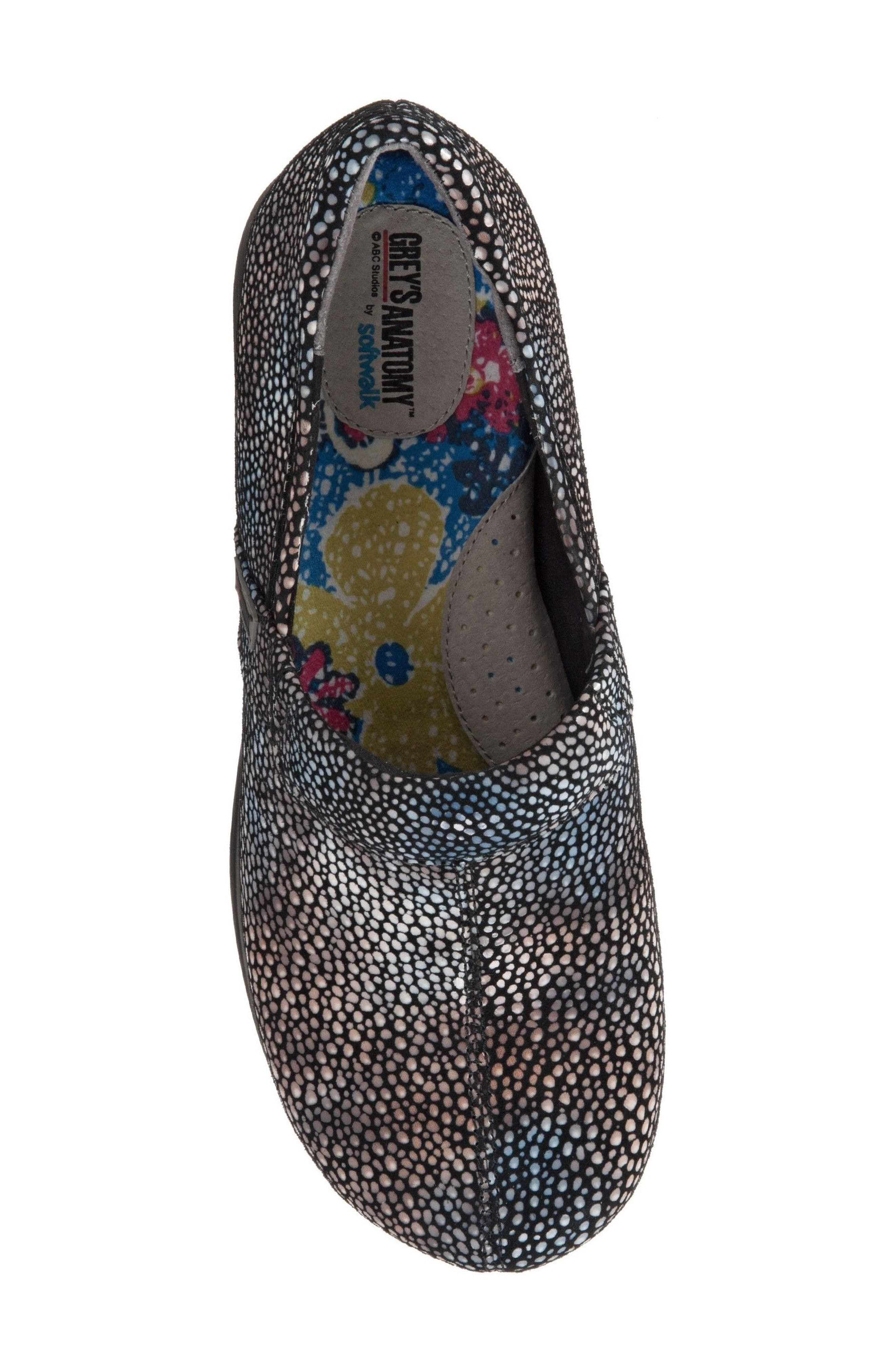 Grey's Anatomy<sup>®</sup> by Softwalk<sup>®</sup> 'Meredith' Leather Clog,                             Alternate thumbnail 5, color,                             Multi Mosaic Leather