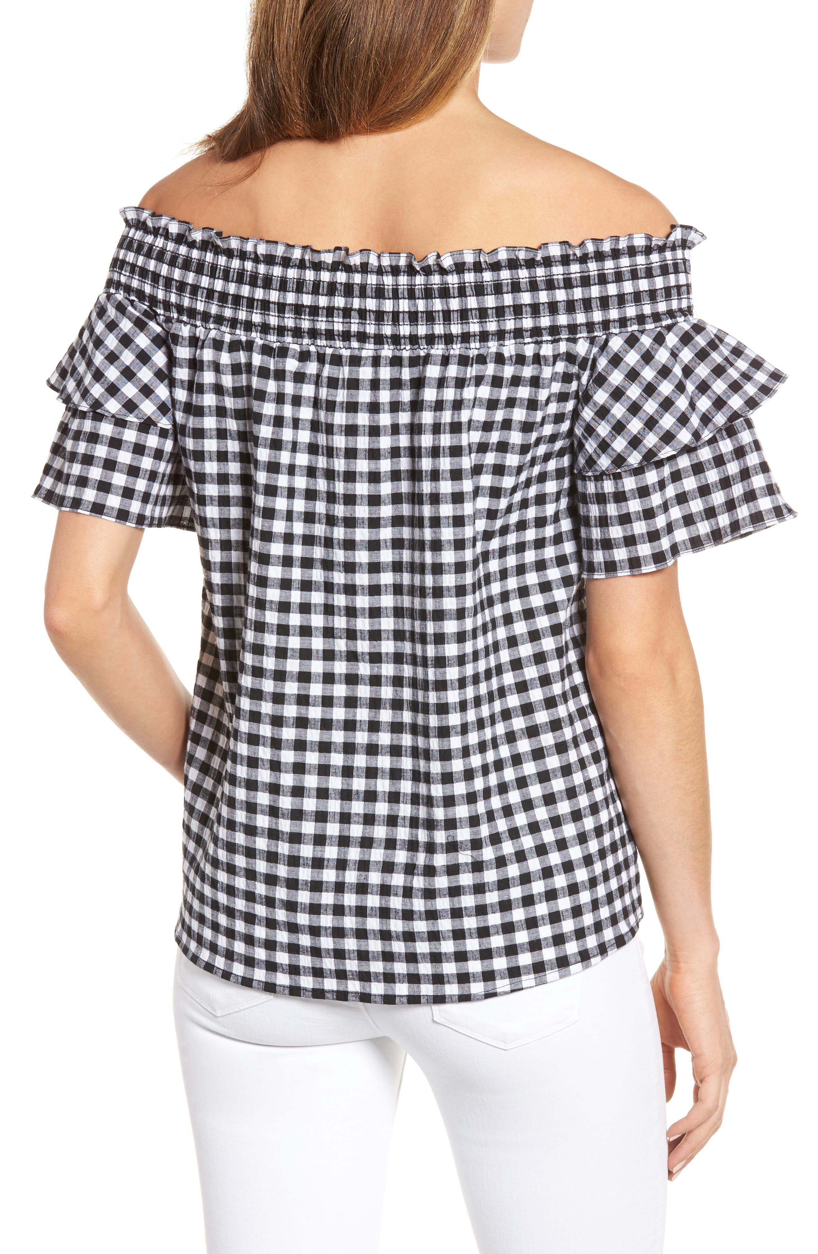 Alternate Image 2  - Caslon® Off the Shoulder Ruffle Sleeve Top (Regular & Petite)