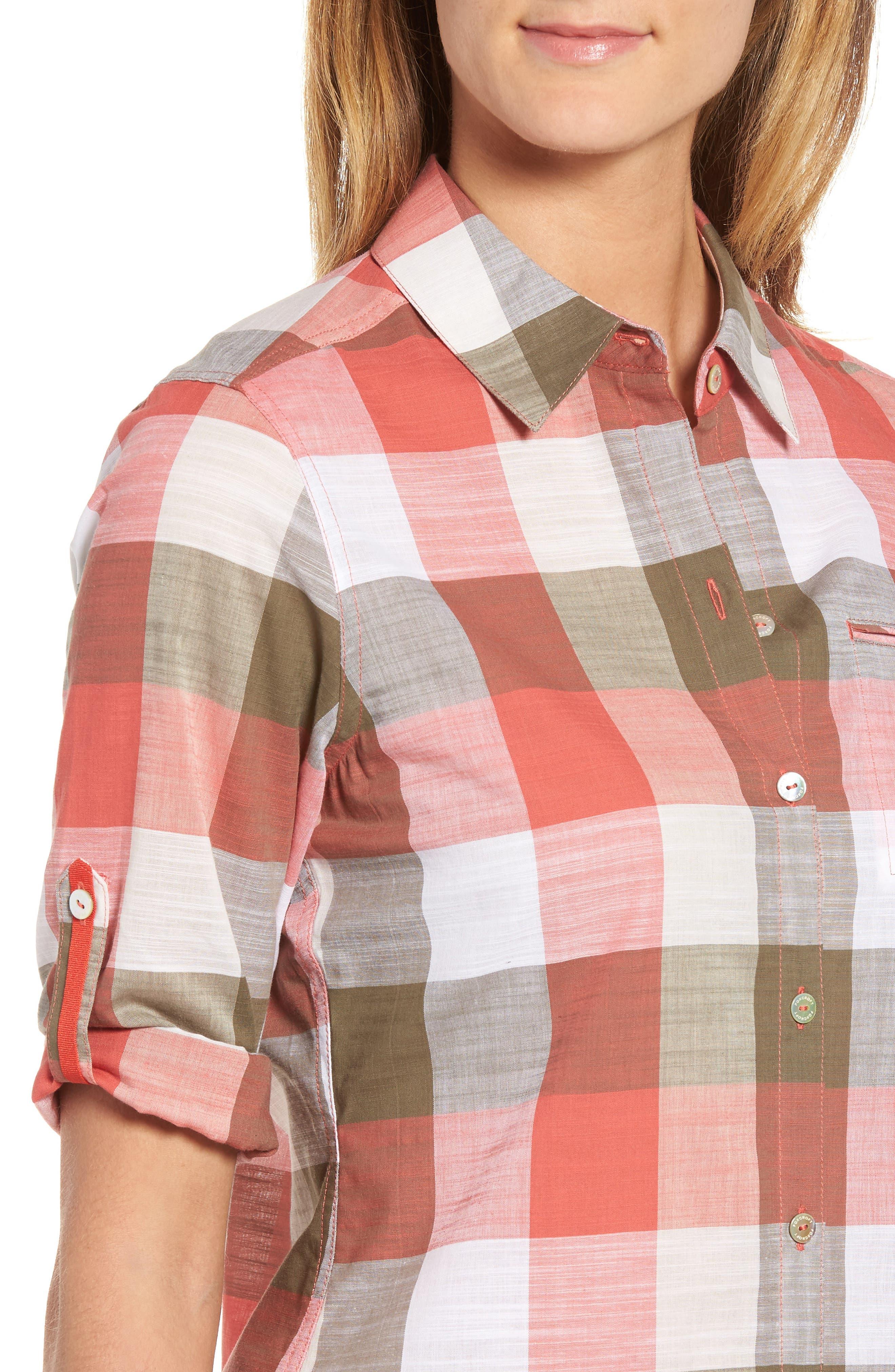 Alternate Image 4  - Foxcroft Reese Buffalo Check Shirt (Regular & Petite)