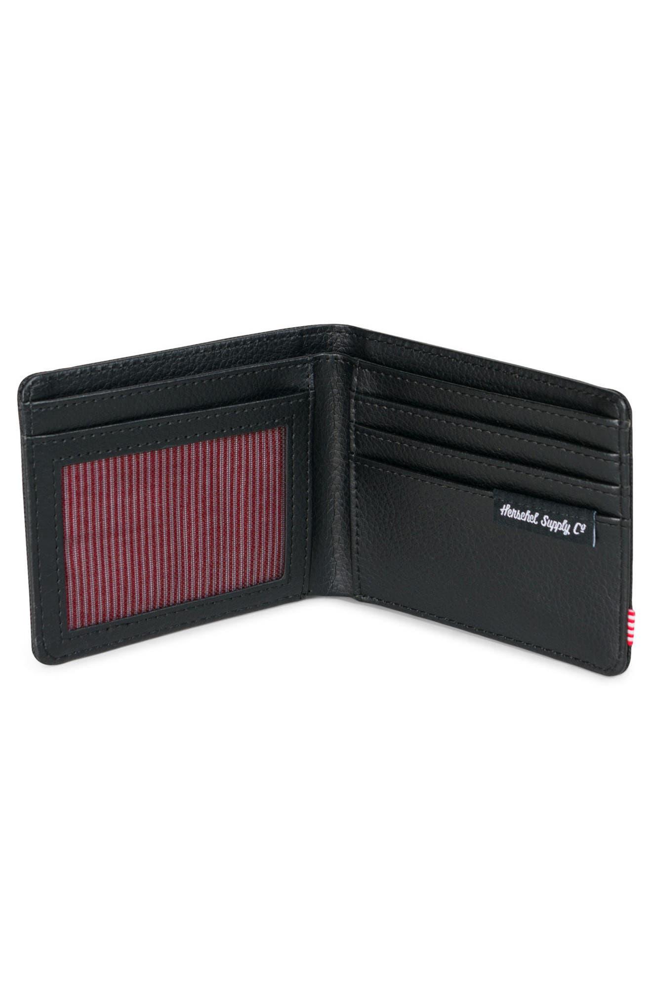 Hank RFID Wallet,                             Alternate thumbnail 2, color,                             Black Gridlock/ Black Leather