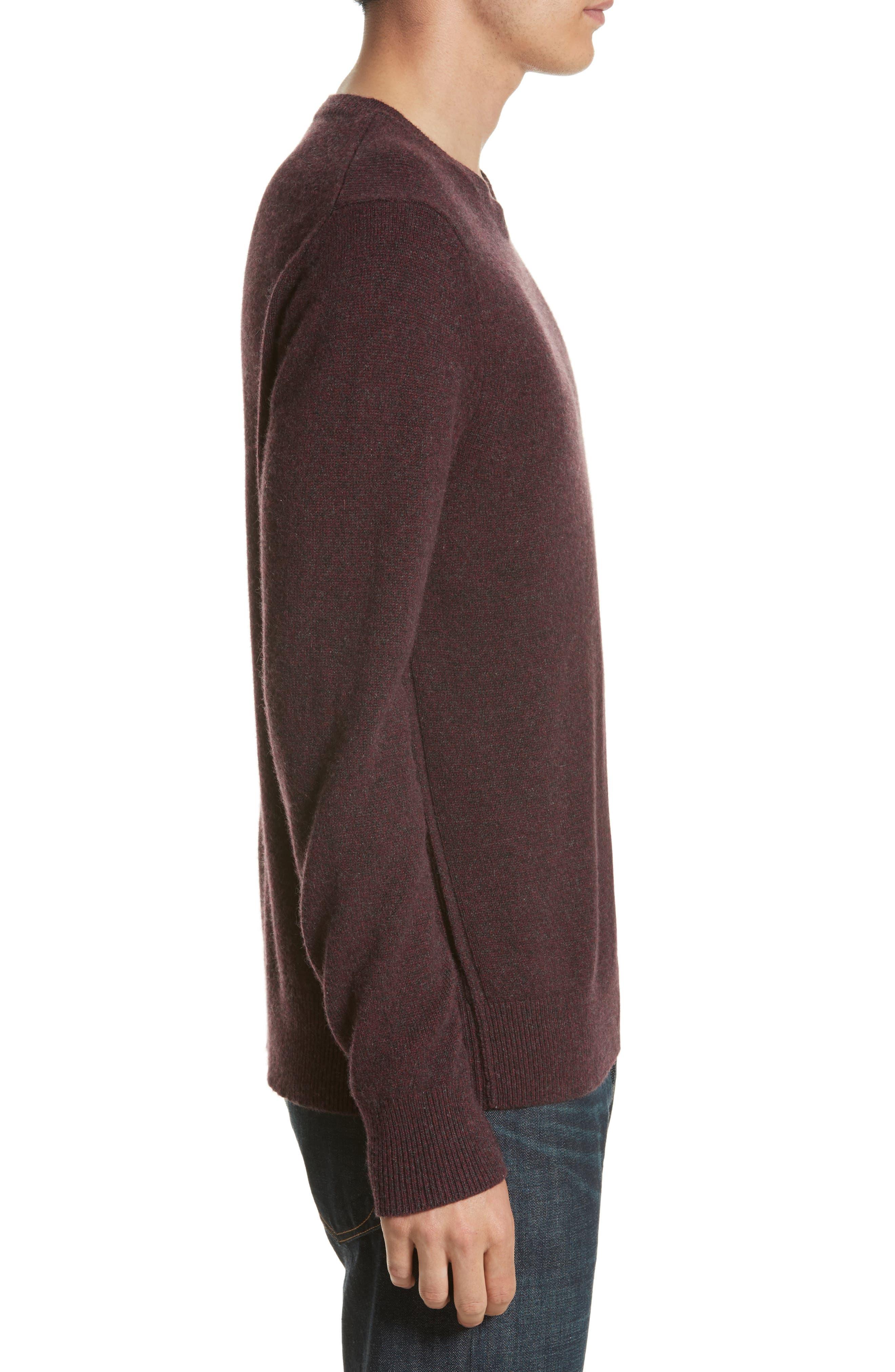 Holdon Cashmere Sweater,                             Alternate thumbnail 3, color,                             Burgundy