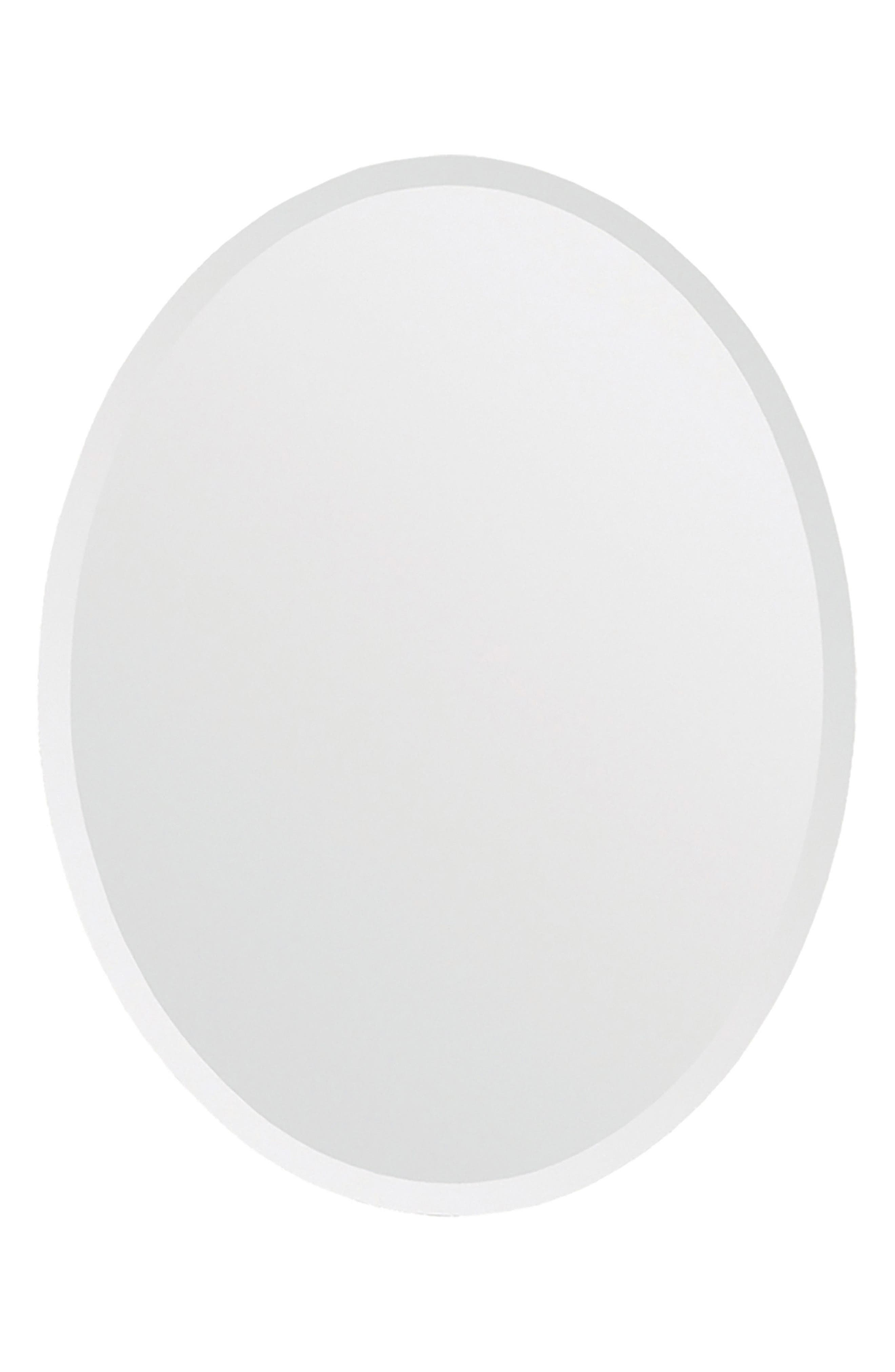 Zsa Zsa Oval Mirror,                         Main,                         color, Clear