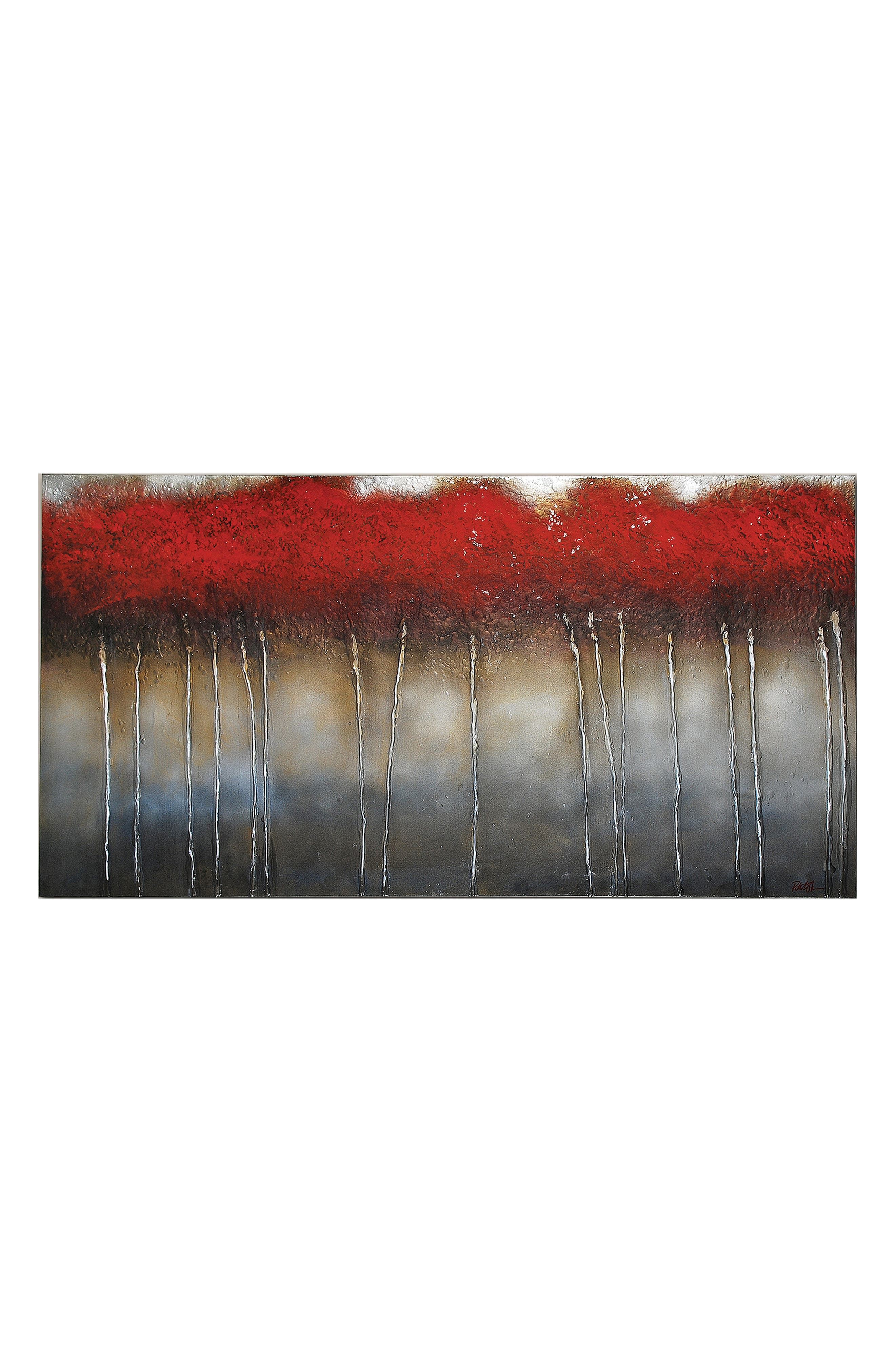 Crimson Canvas Wall Art,                             Main thumbnail 1, color,                             Multi Color