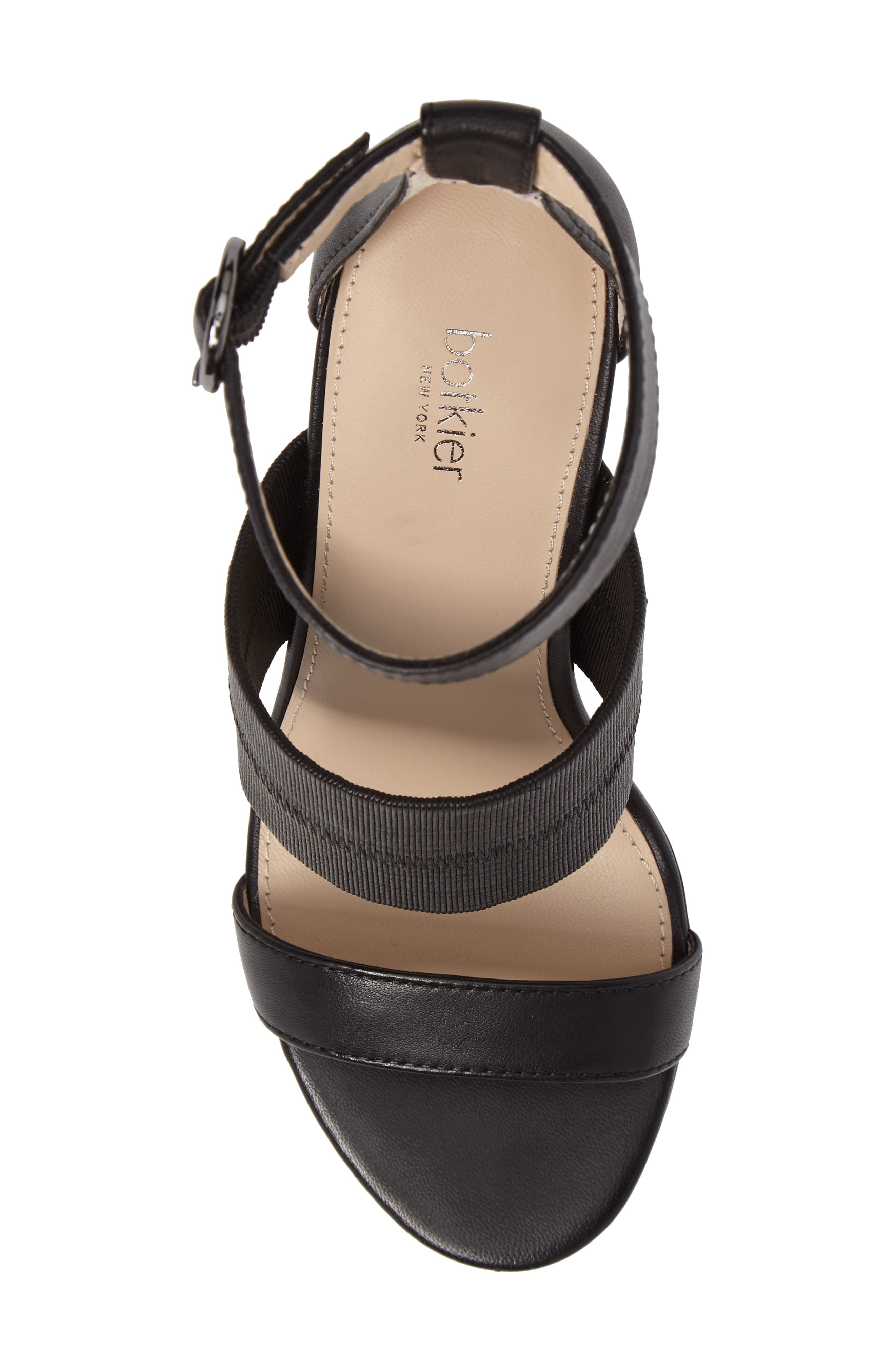 Gisella Ankle Strap Sandal,                             Alternate thumbnail 5, color,                             Black Leather
