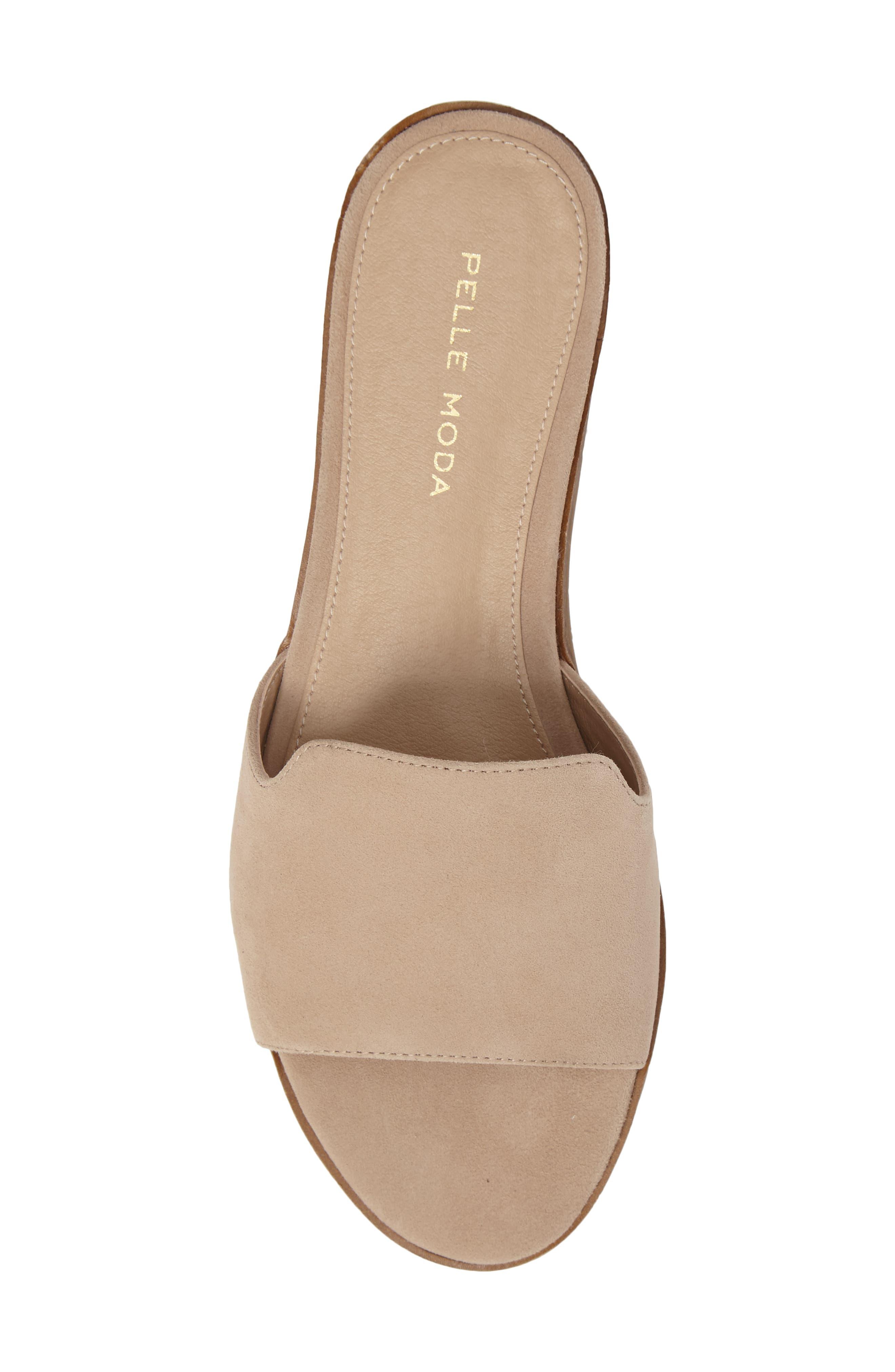 Hailey Slide Sandal,                             Alternate thumbnail 5, color,                             Sand Leather