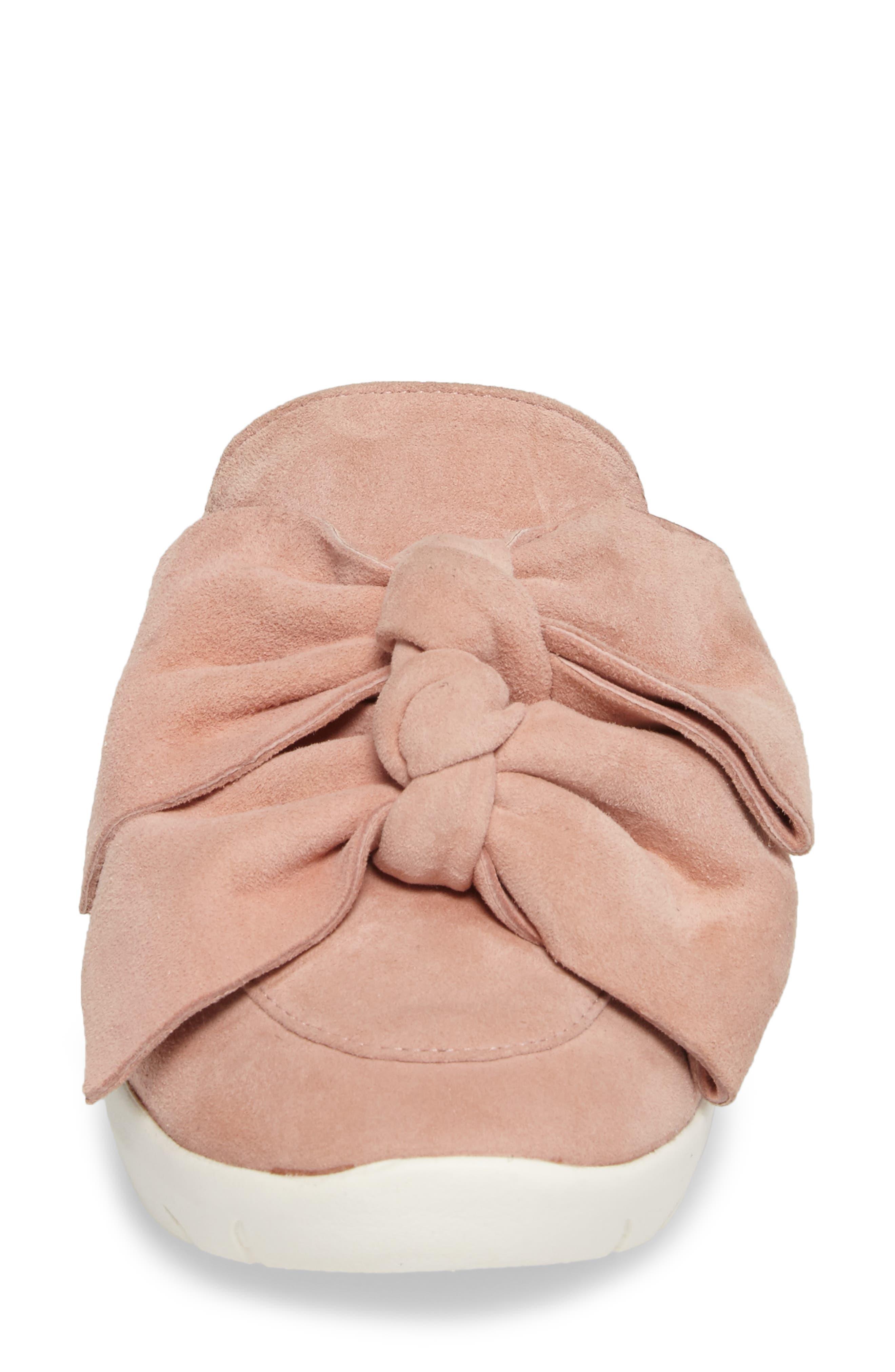 Tibow Platform Slide Sneaker,                             Alternate thumbnail 4, color,                             Pale Pink Suede