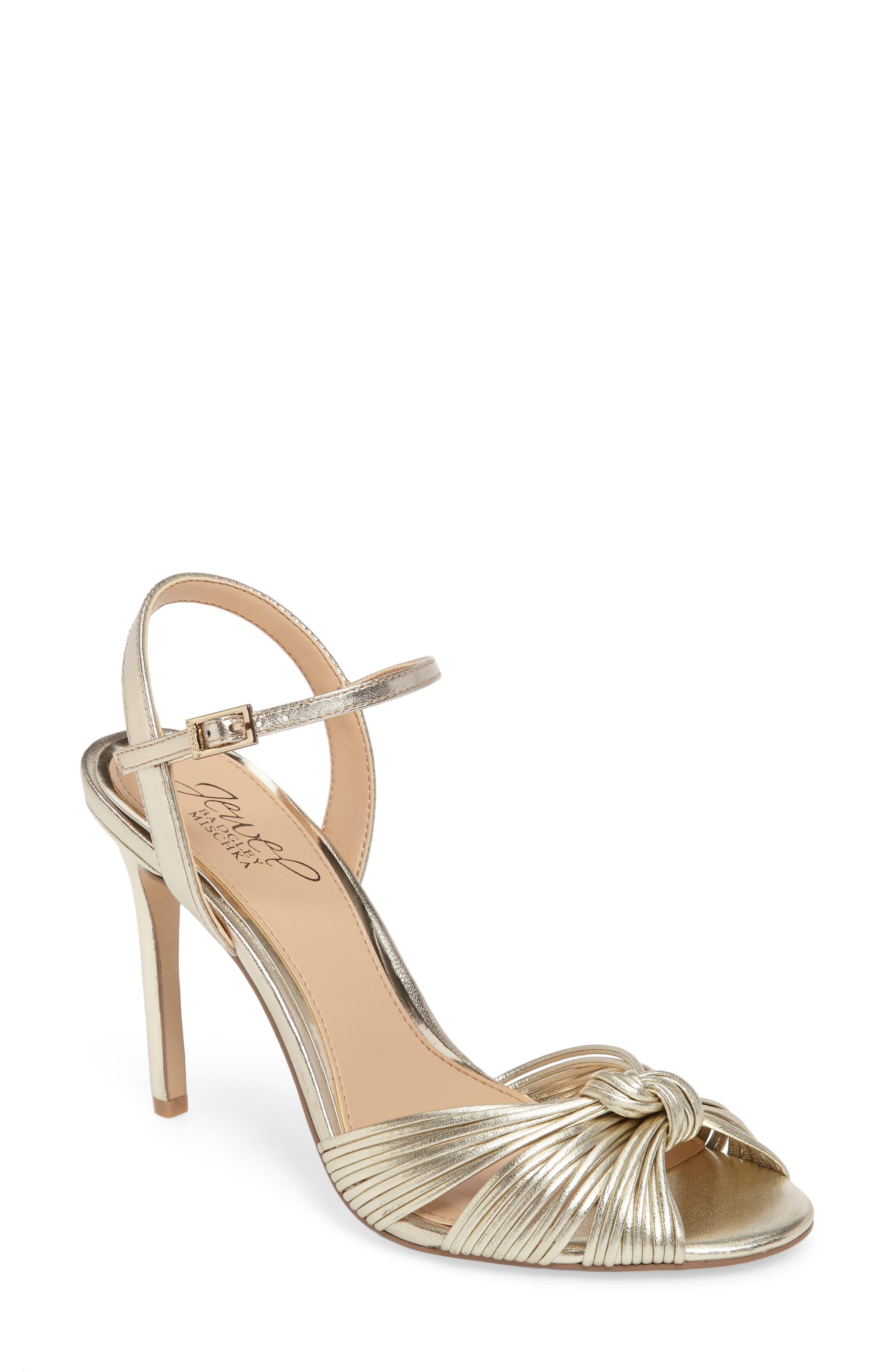 Main Image - Jewel Badgley Mischka Lady Ankle Strap Sandal (Women)