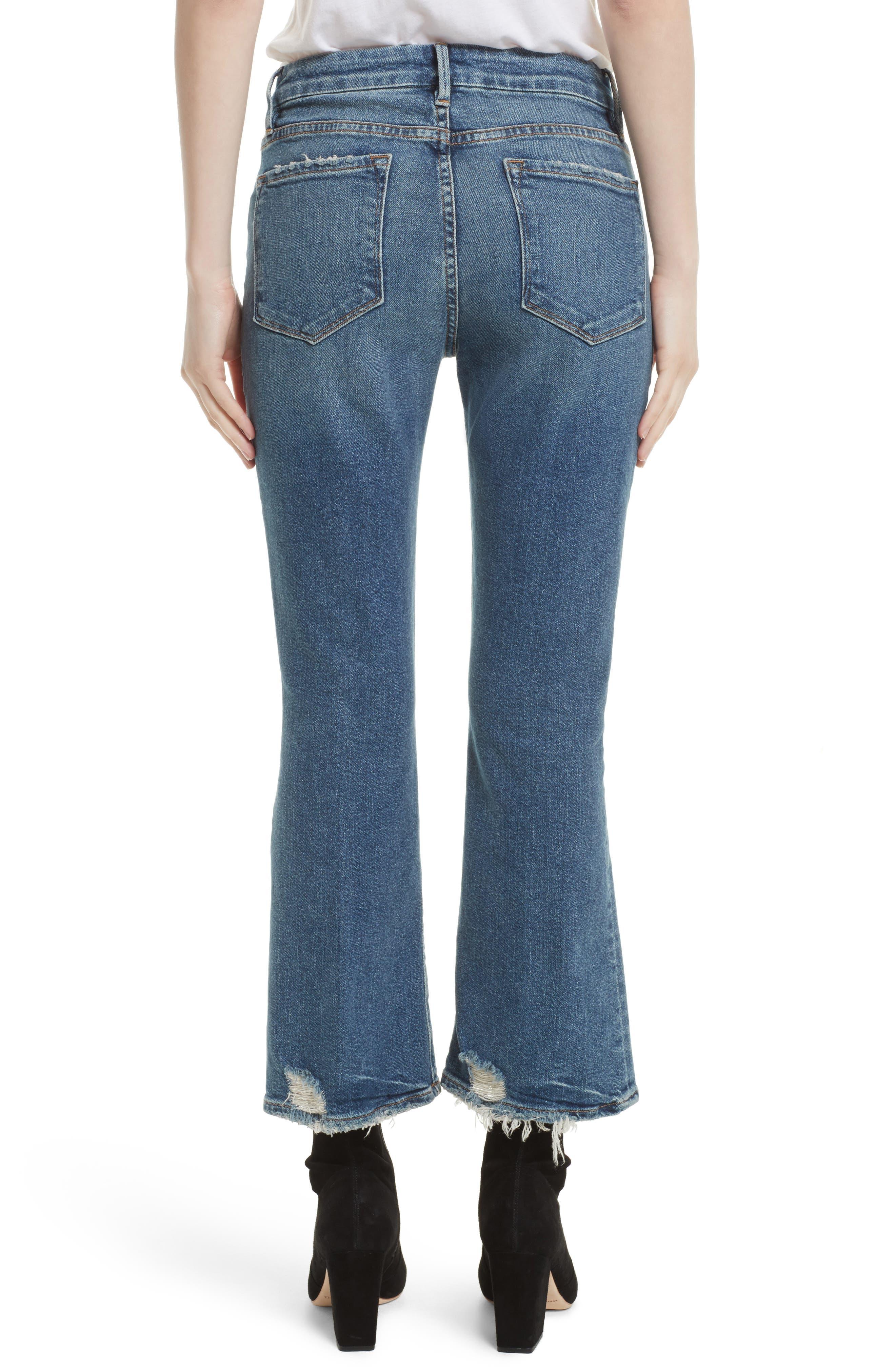 Crop Mini Boot Jeans,                             Alternate thumbnail 3, color,                             Elmont Ridge
