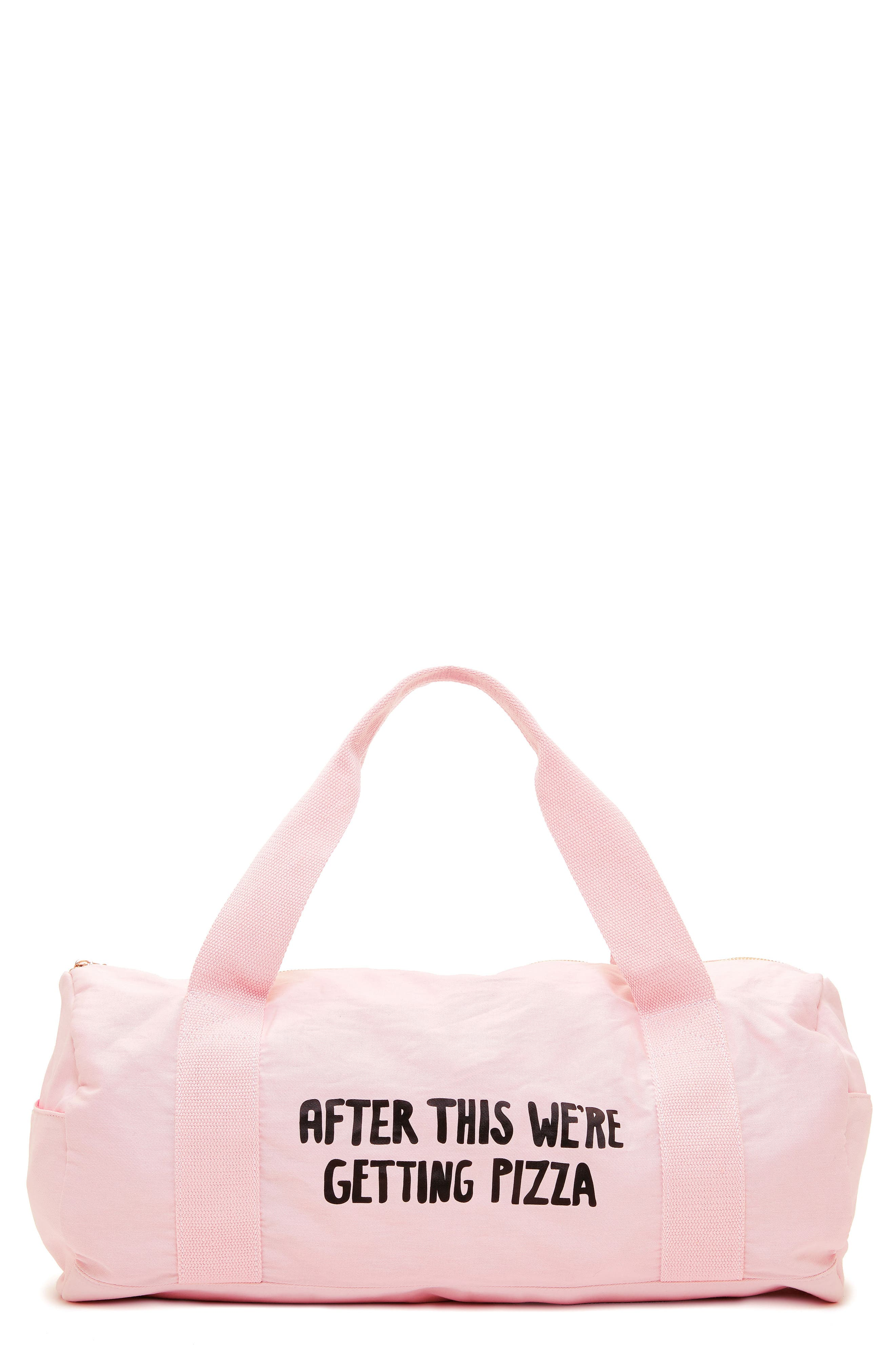 Work It Out - After This Gym Bag,                             Main thumbnail 1, color,                             Were Getting Pizza
