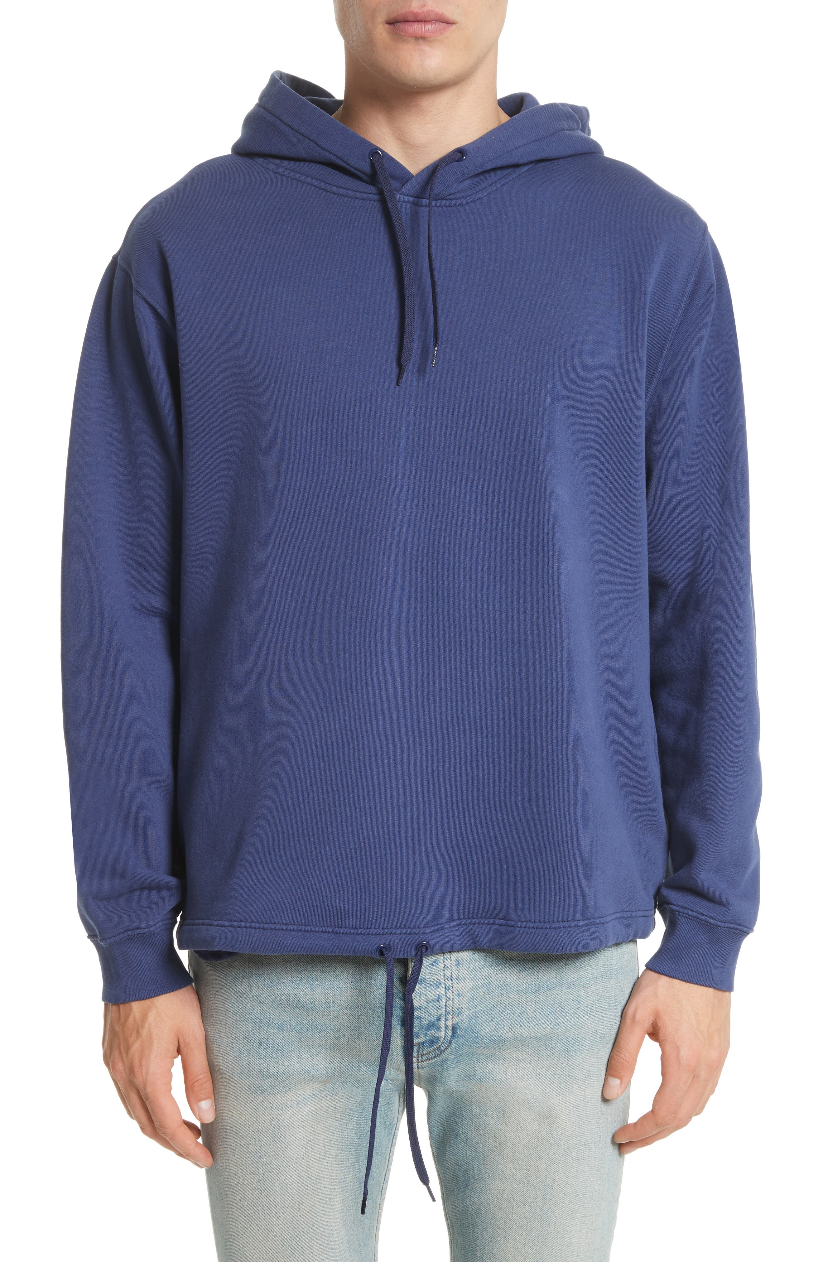 Logo Back Pullover Hoodie,                         Main,                         color, Blue