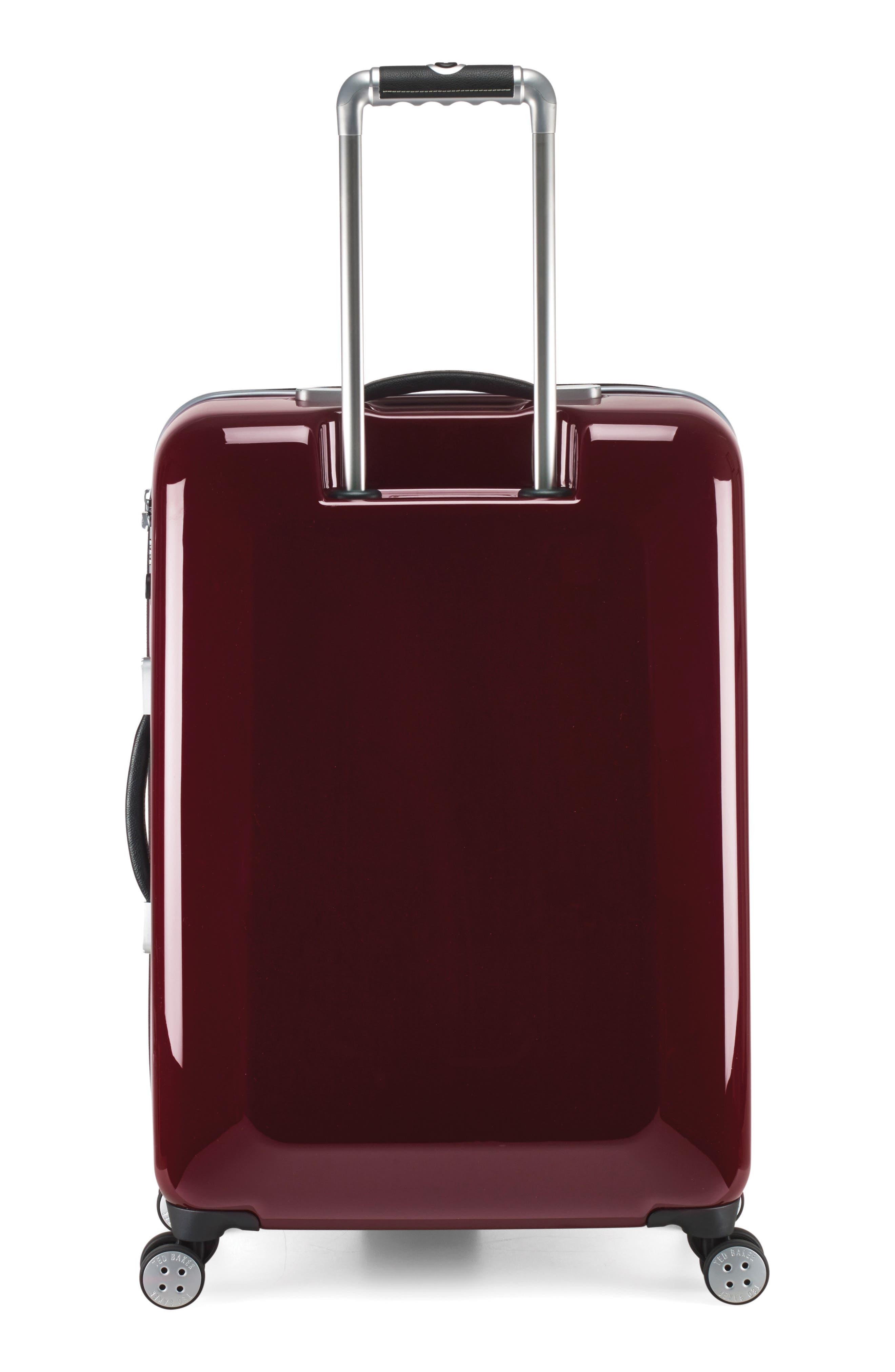 "Medium 28"" Hard Shell Spinner Suitcase,                             Alternate thumbnail 4, color,                             Burg-Graph"