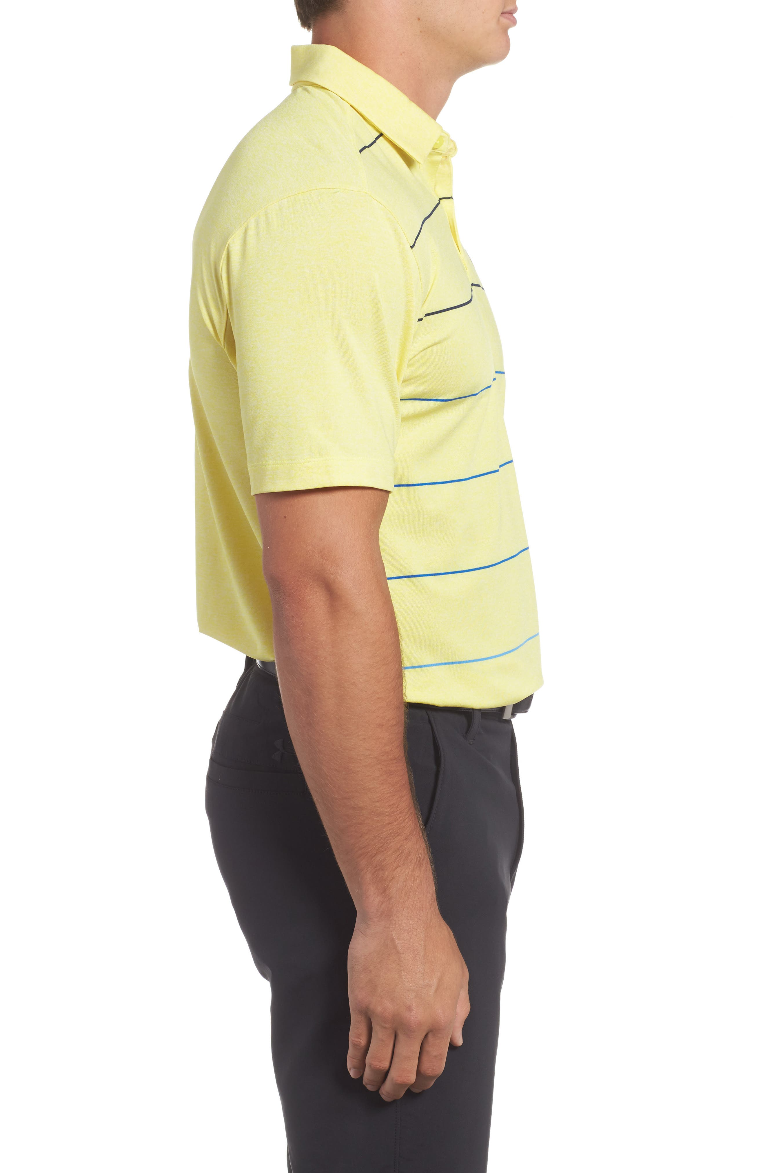 CoolSwitch Regular Fit Polo,                             Alternate thumbnail 4, color,                             Tokyo Lemon / Steel