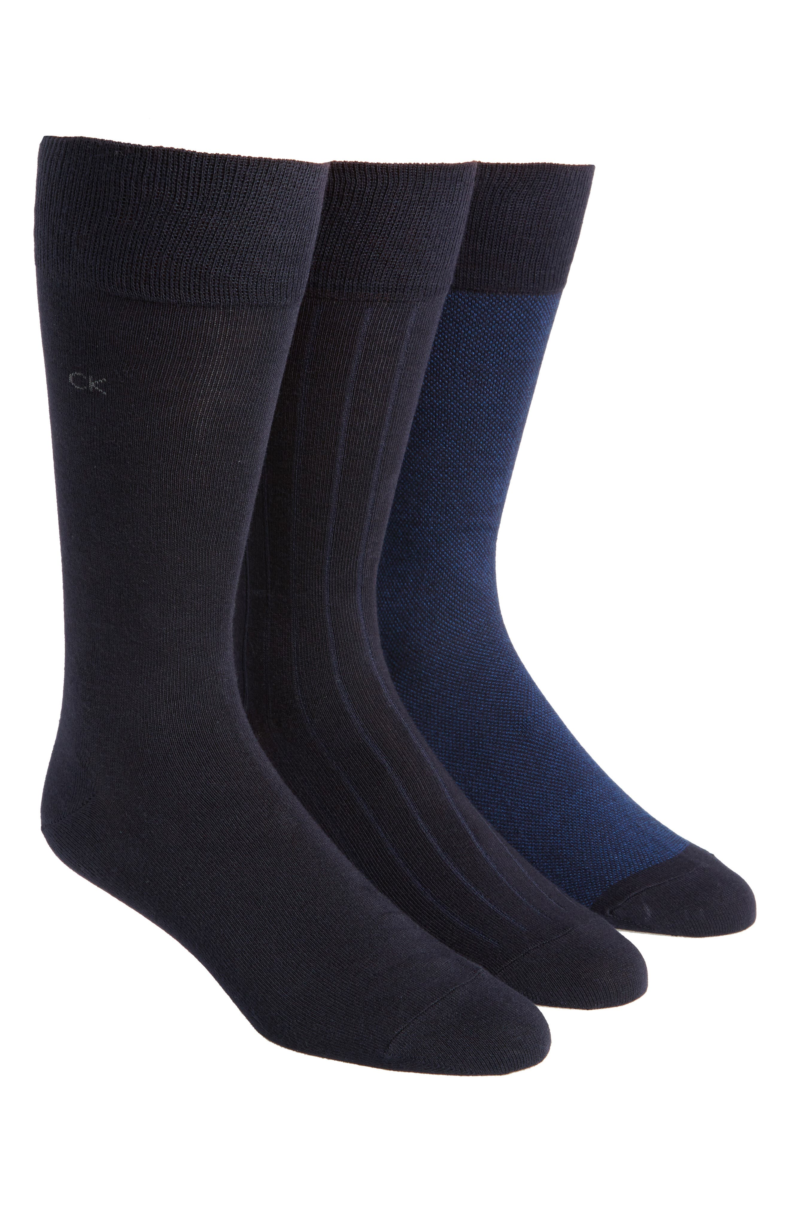 3-Pack Crew Socks,                         Main,                         color, Navy