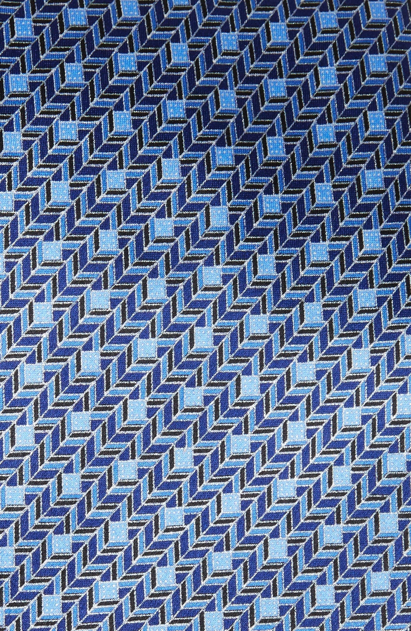 Alternate Image 2  - Ermenegildo Zegna Chevron Silk Tie