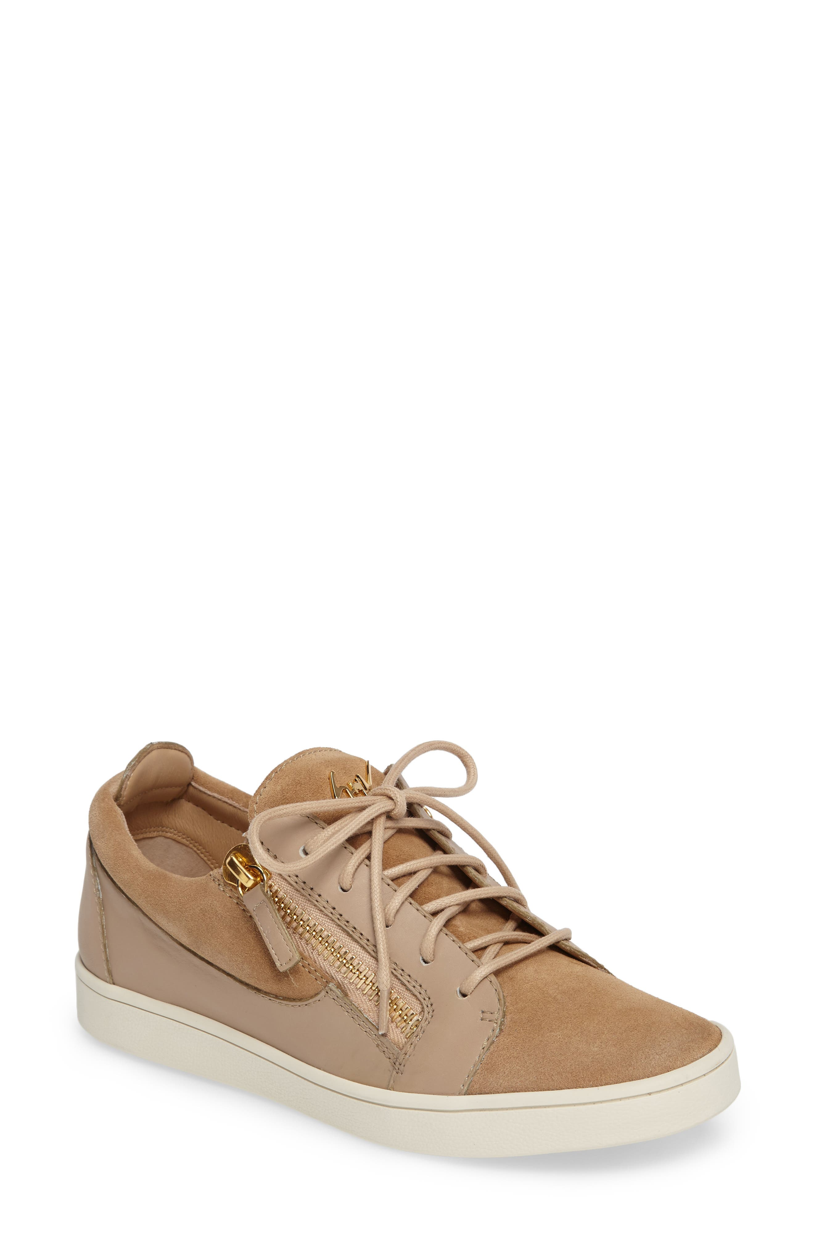 Giuseppe Zanotti Low Top Zip Sneaker (Women)