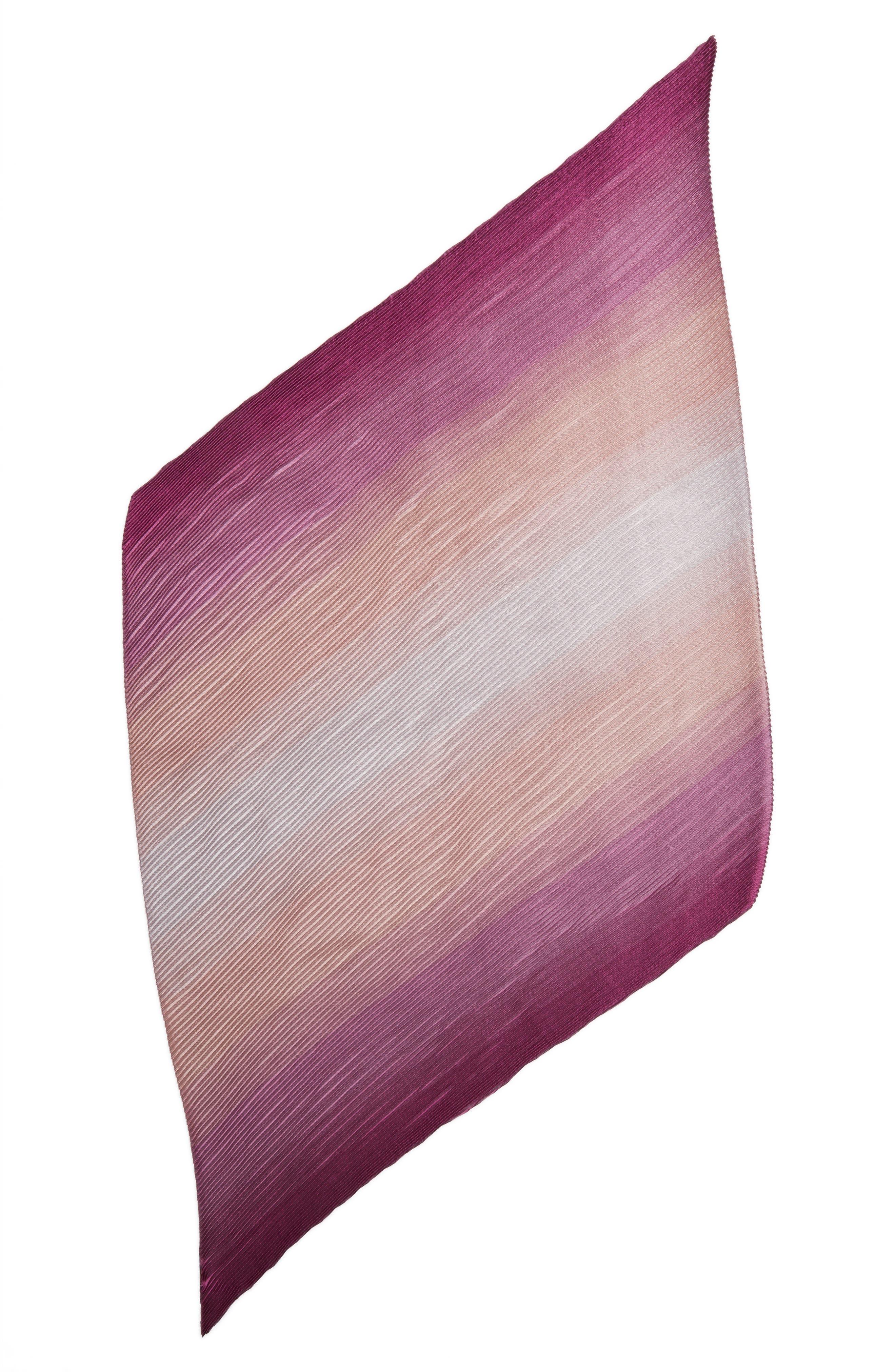Herringbone Plissé Scarf,                             Alternate thumbnail 2, color,                             Fuchsia Multi