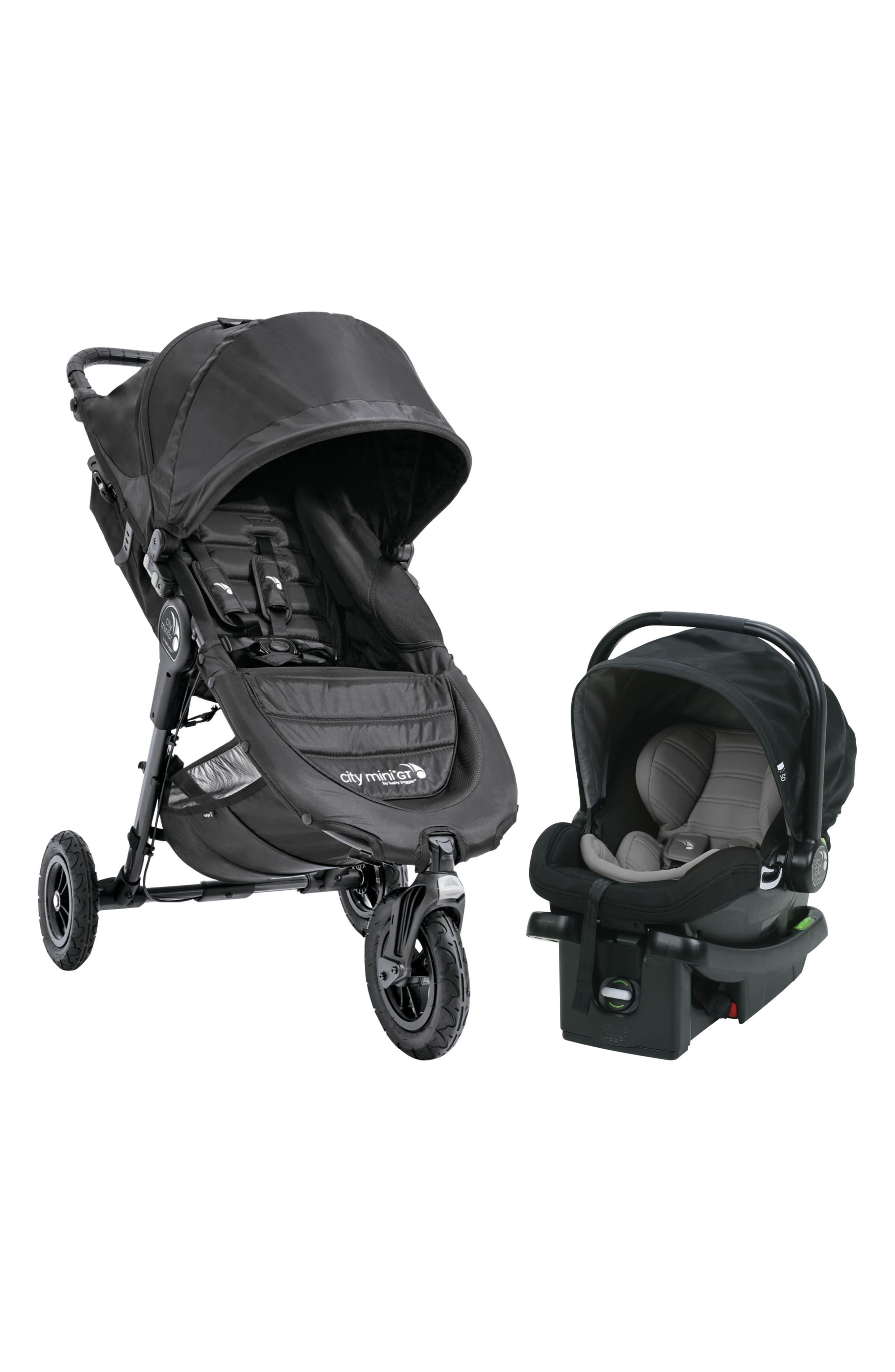 City Mini Single Stroller & City Go Infant Car Seat Travel System,                         Main,                         color, Black
