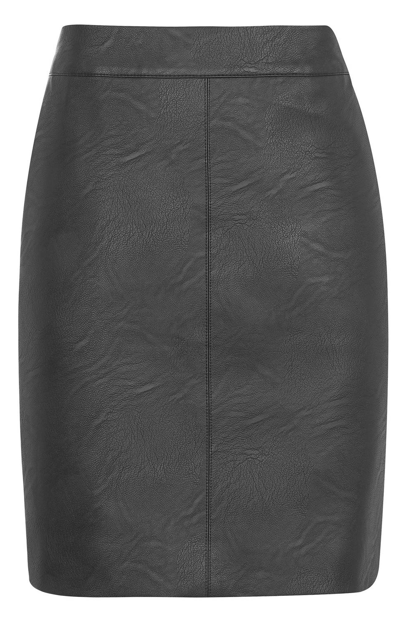 Alternate Image 5  - Topshop Faux Leather Pencil Skirt