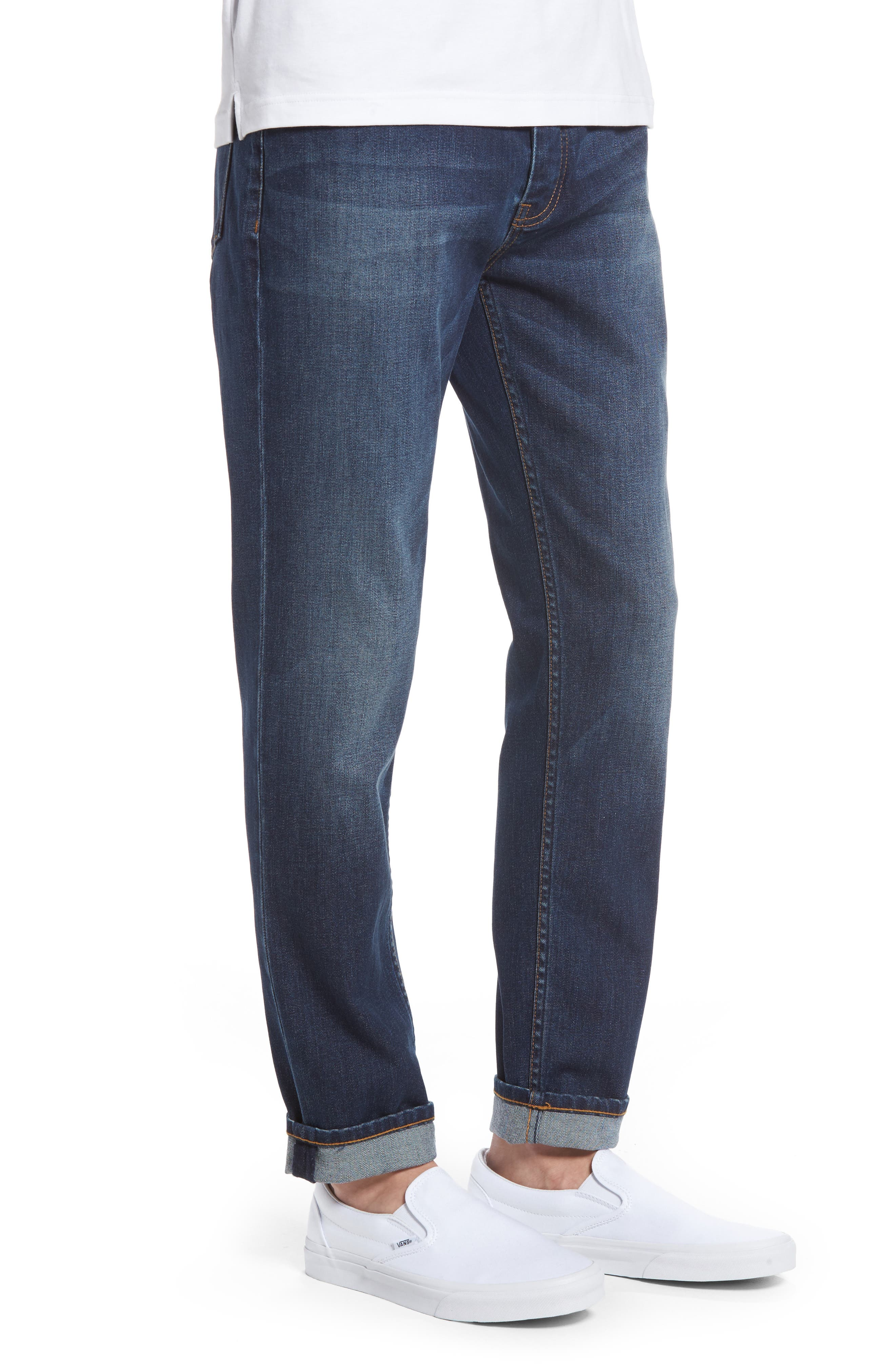 Stretch Skinny Fit Jeans,                             Alternate thumbnail 3, color,                             Indigo