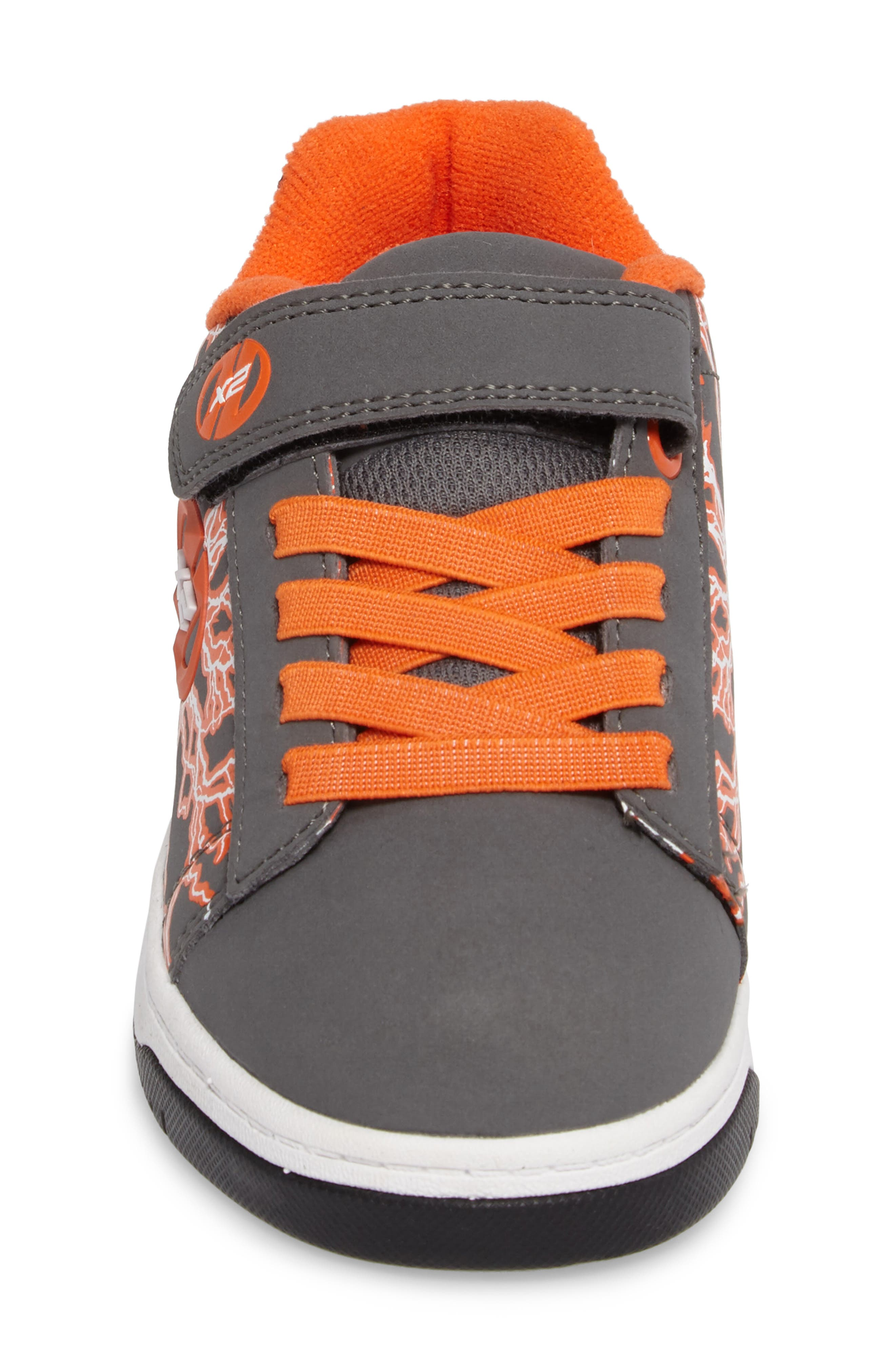 'Dual Up X2' Sneaker,                             Alternate thumbnail 4, color,                             Charcoal/ Orange/ Electricity