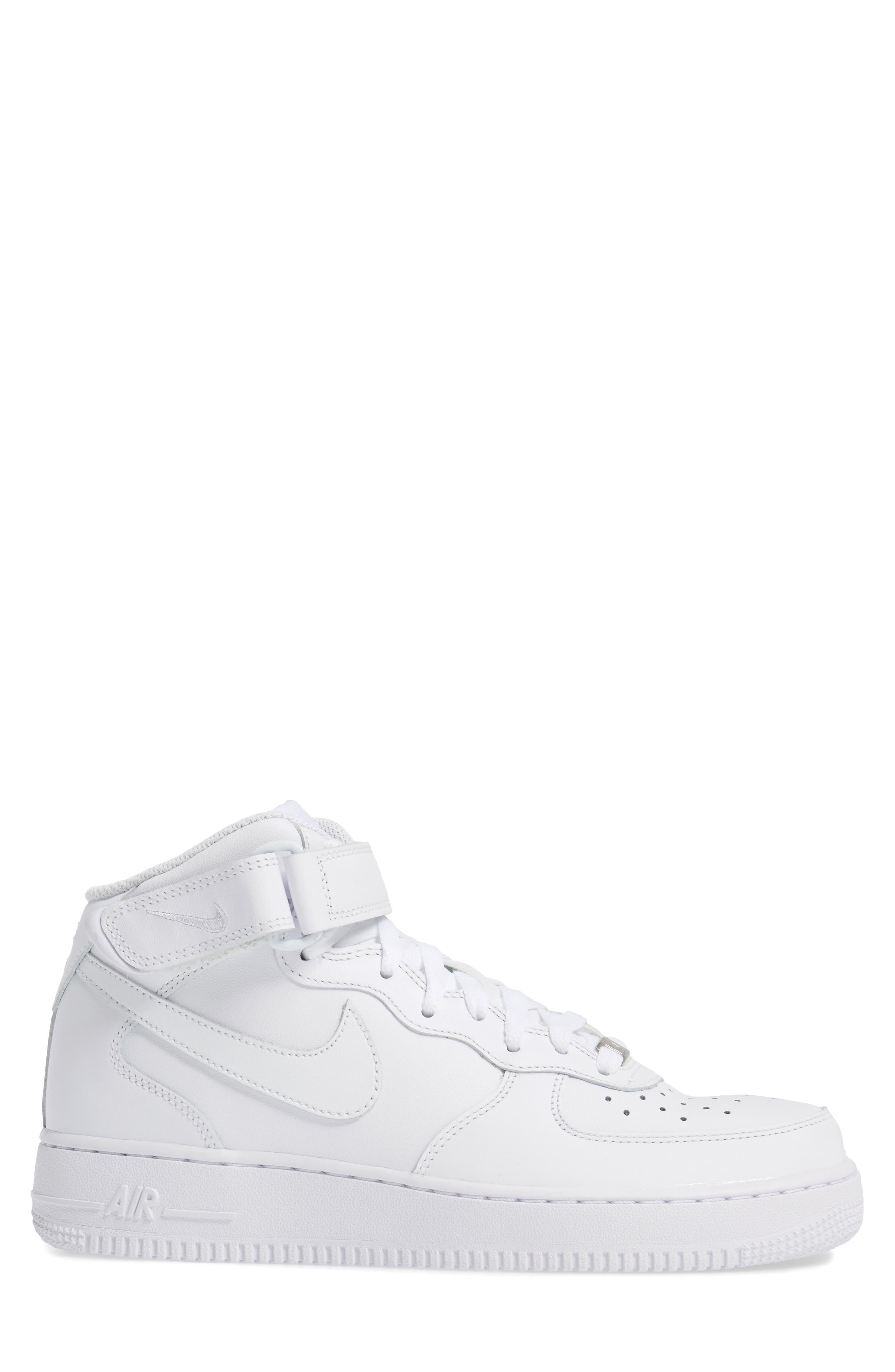 Air Force 1 Mid '07 Sneaker,                             Alternate thumbnail 3, color,                             White/ White