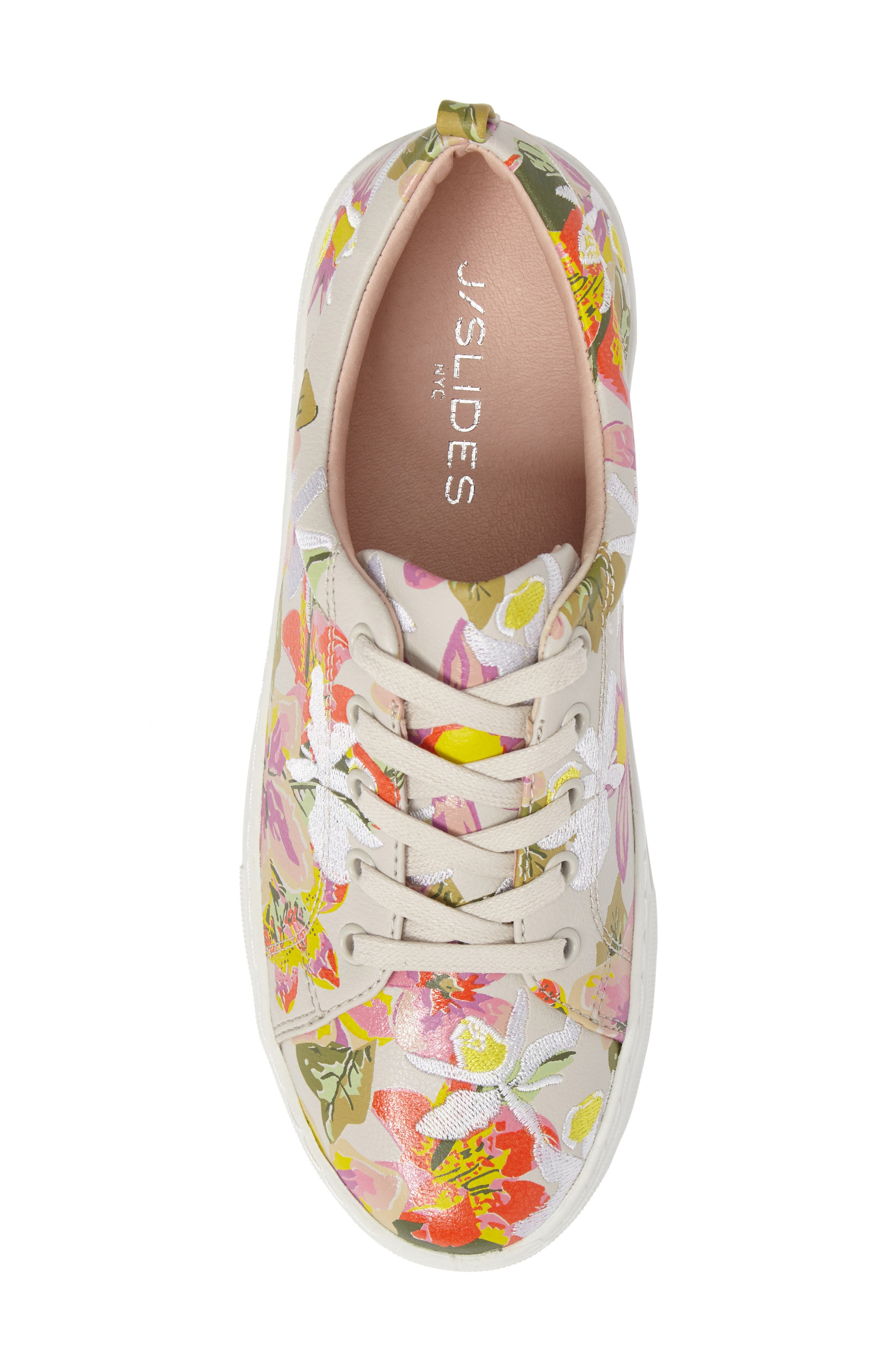 Appy Embroidered Platform Sneaker,                             Alternate thumbnail 5, color,                             Pink Multi Fabric