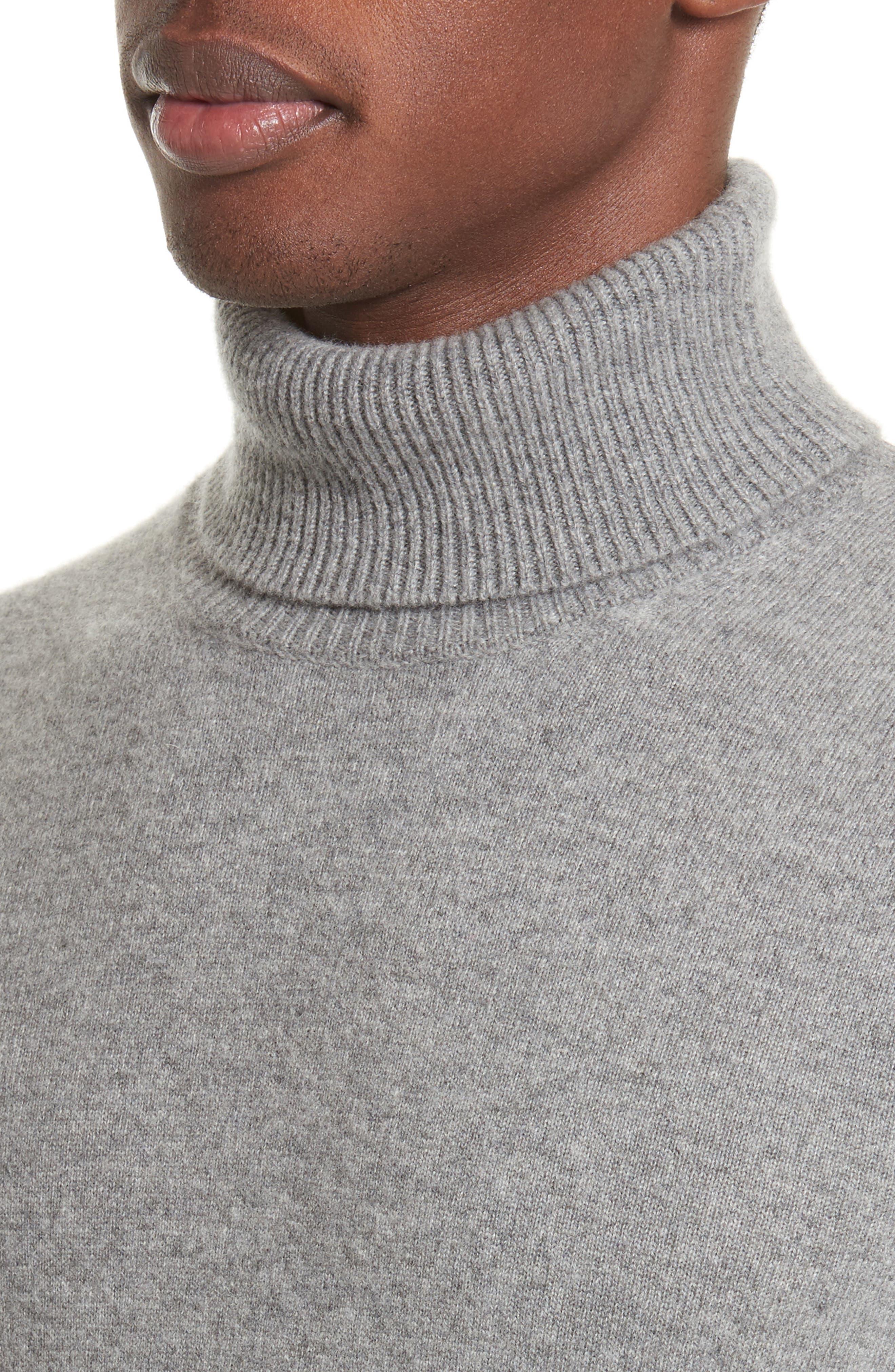 Turtleneck Sweater,                             Alternate thumbnail 4, color,                             Grey