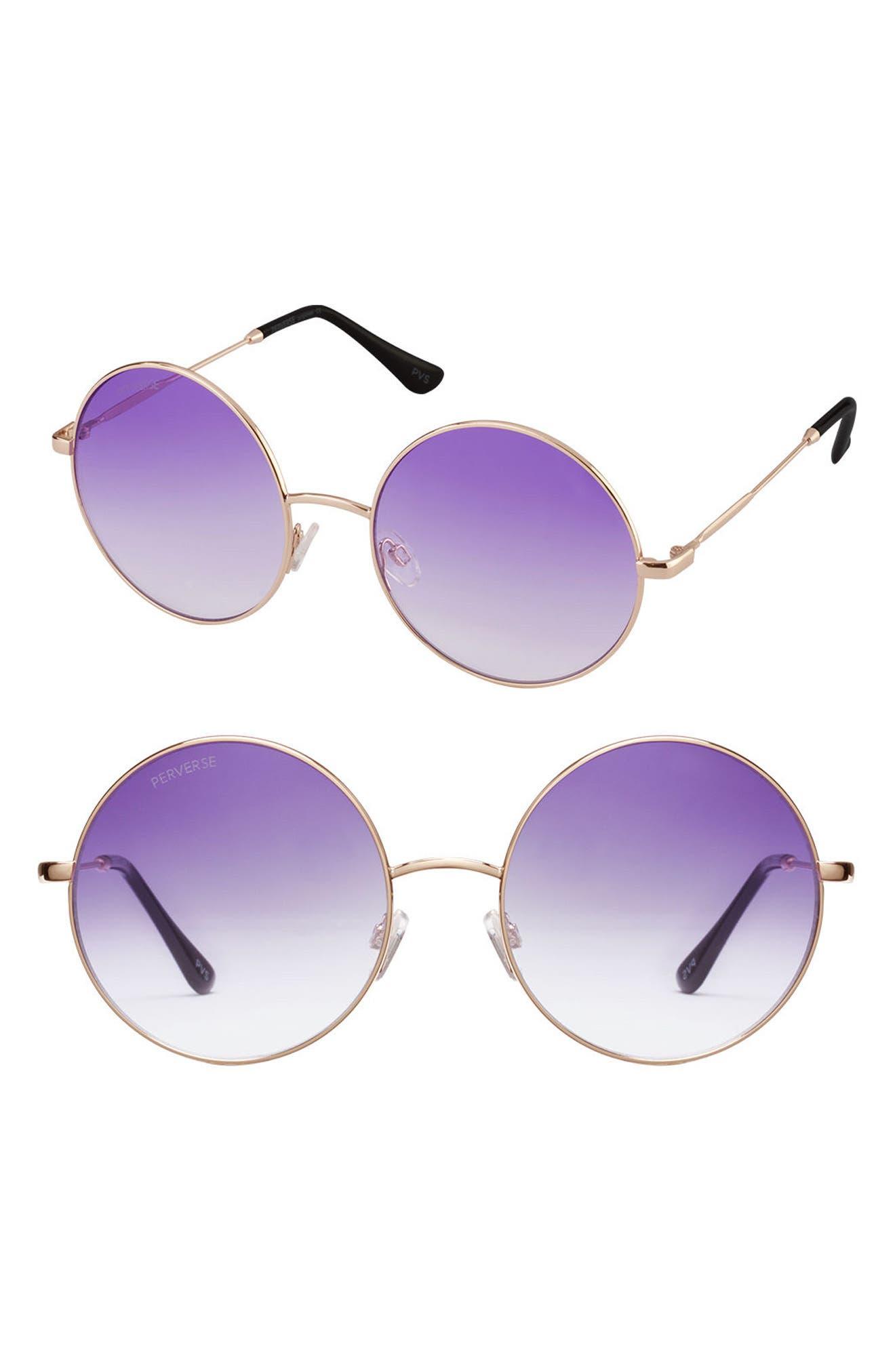 PERVERSE Soleil Gradient Lens Round Sunglasses