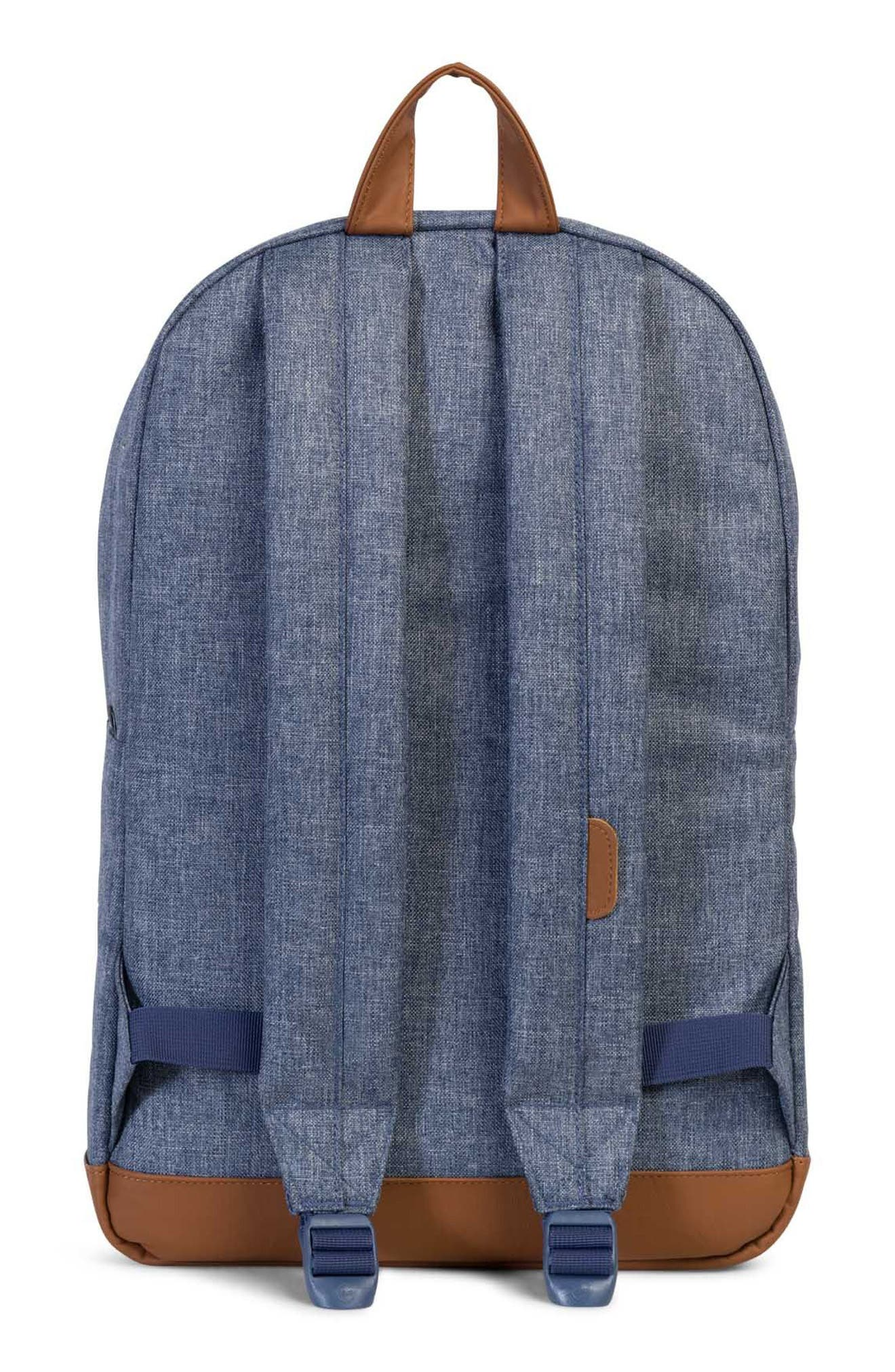 Pop Quiz Crosshatch Backpack,                             Alternate thumbnail 2, color,                             Dark Chambray Crosshatch