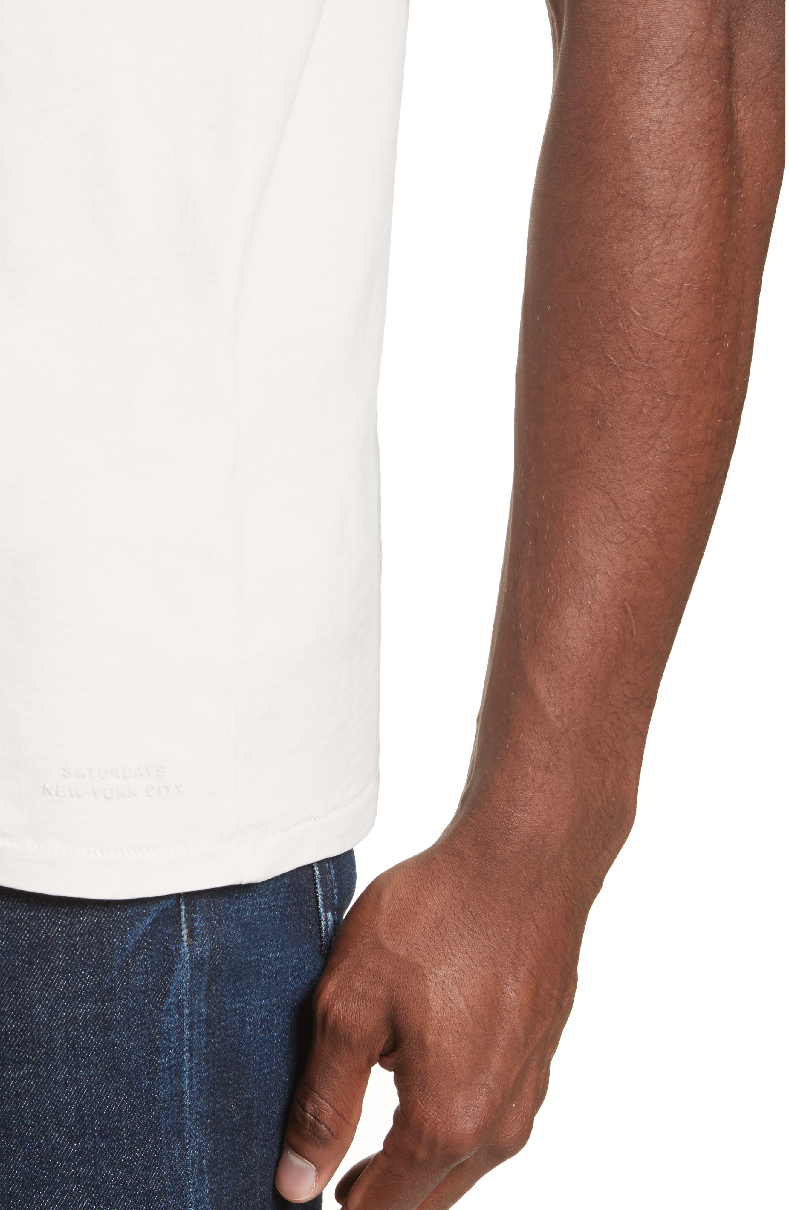 Brandon Pima Cotton T-Shirt,                             Alternate thumbnail 4, color,                             Dune