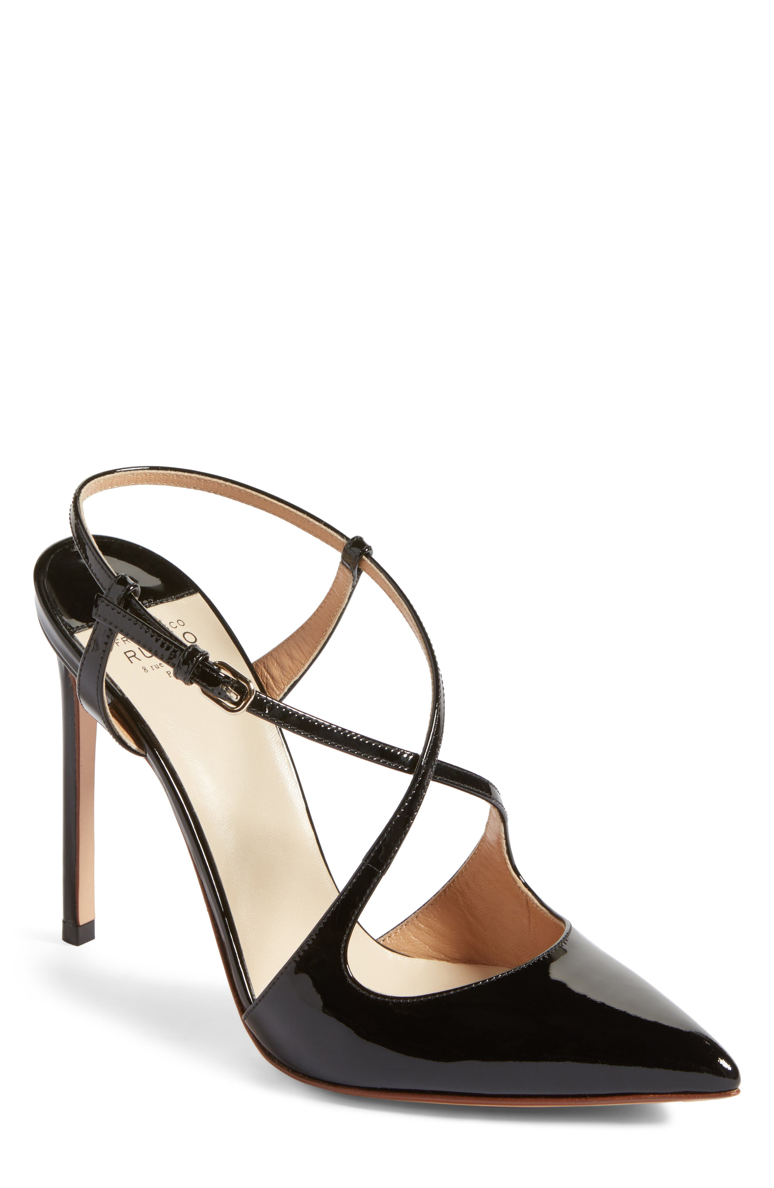 Alternate Image 1 Selected - Francesco Russo Criss Cross Pump (Women)