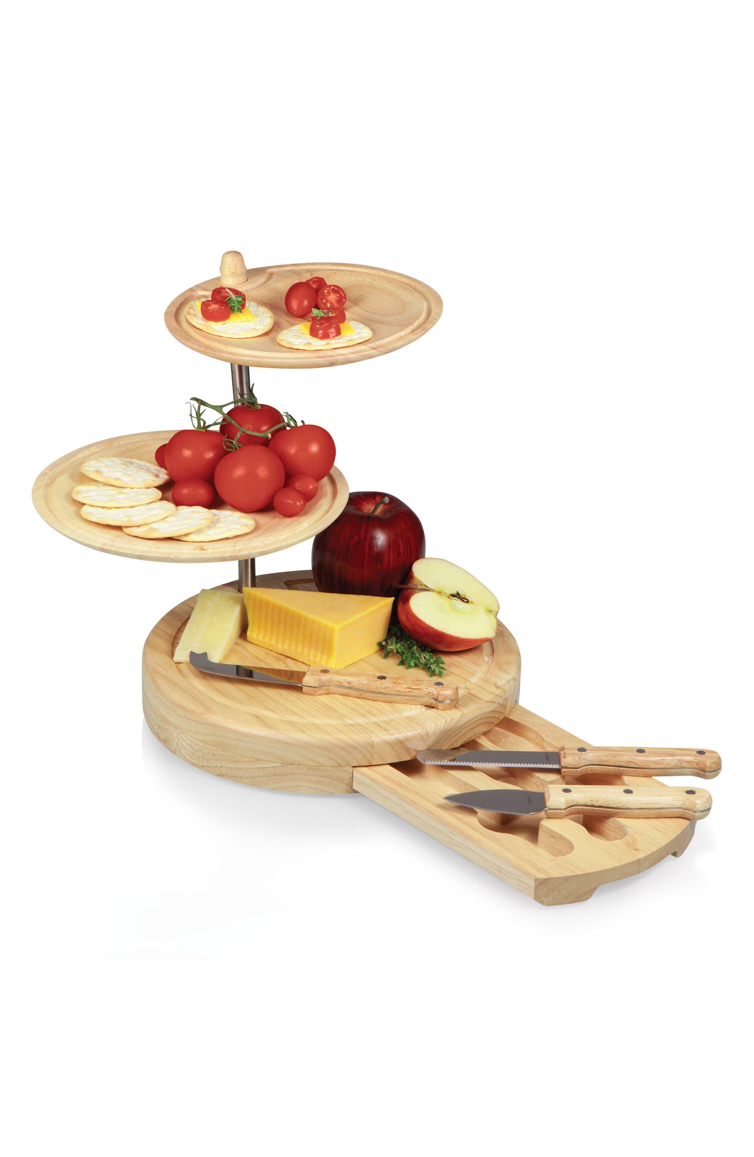 Regalio 3-Tier Cheese Board & Tool Set,                             Alternate thumbnail 2, color,                             Brown