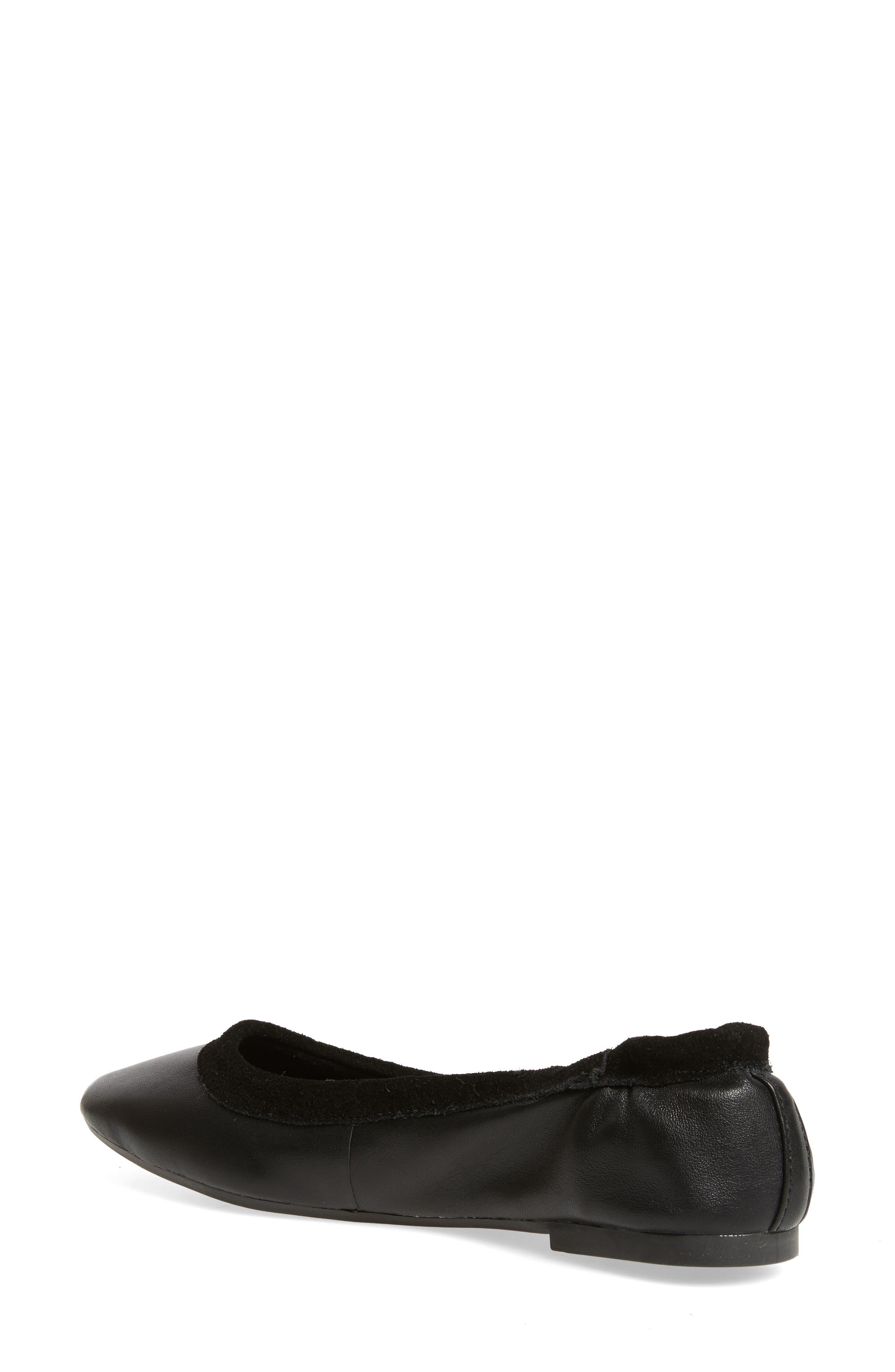 M4D3 Cozy Ballet Flat,                             Alternate thumbnail 2, color,                             Black Leather