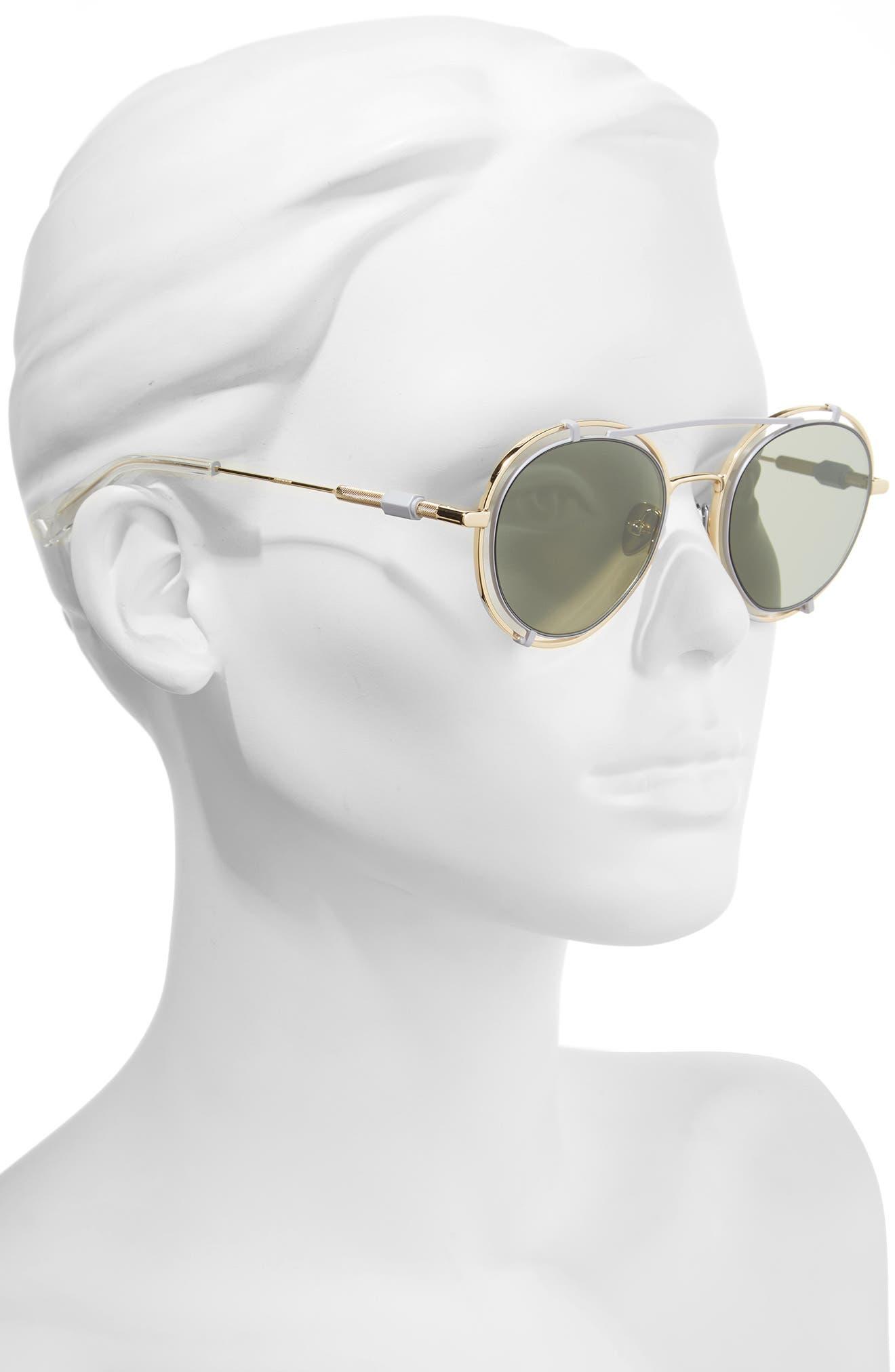Alternate Image 2  - HAZE Pyn 55mm Mirrored Sunglasses