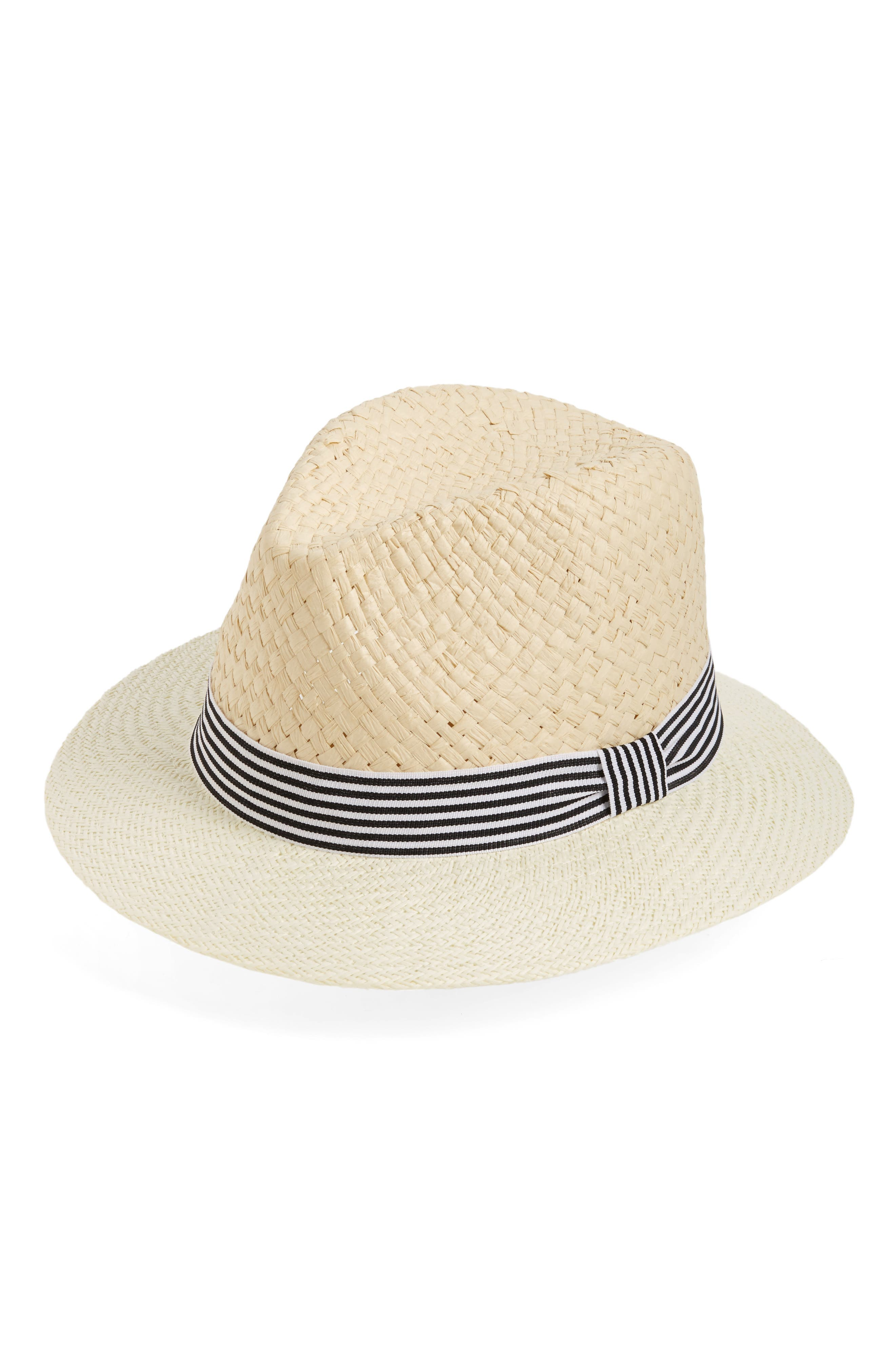 Main Image - David & Young Stripe Band Fedora